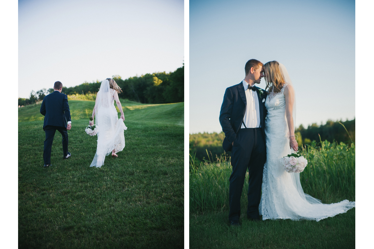 Bride and Groom Sunset Portraits | Ranch Golf Club - Southwick, MA. | Kelly Burgess Photography