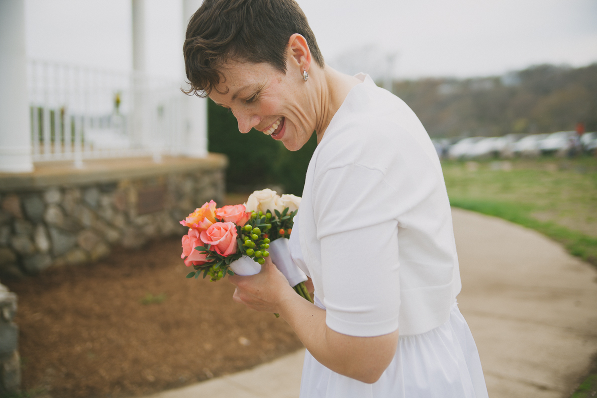 Bride Portrait | Stage Fort Park Wedding - Gloucester, MA. | Kelly Burgess Photography