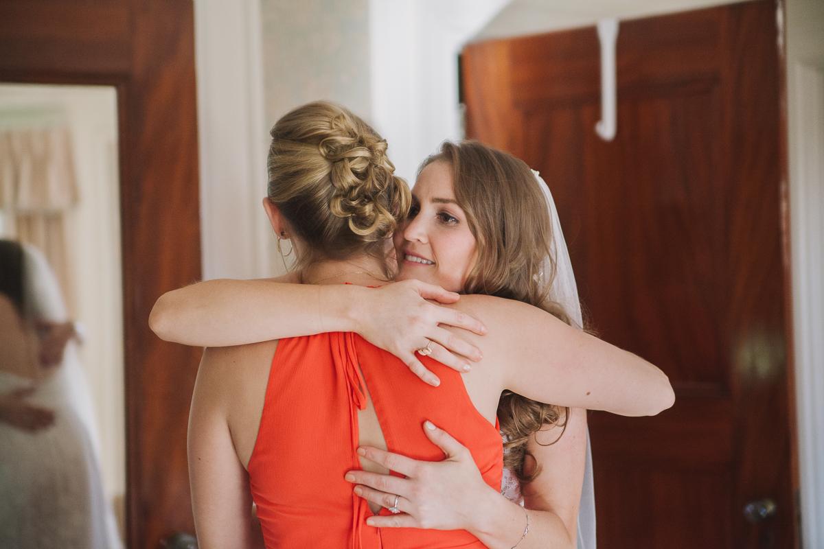 Bride and Bridesmaid | Endicott Estate Wedding - Southwick, MA. | Kelly Burgess Photography