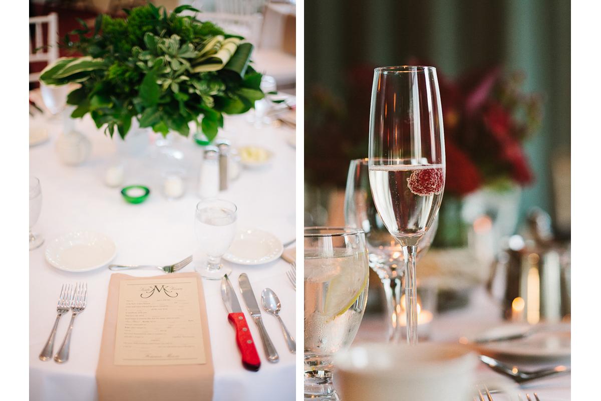 Wedding Reception Table Settings | Kelly Burgess Photography