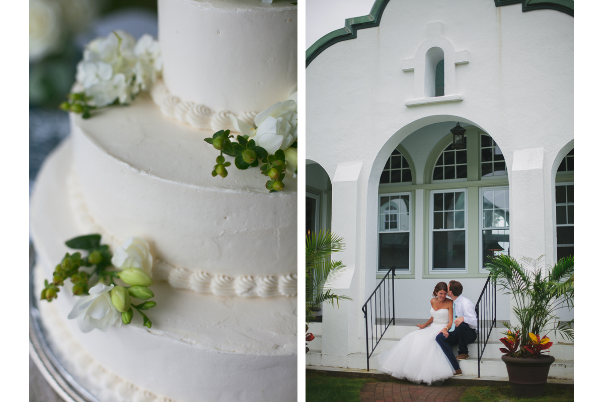 Wedding Cake and Bride and Groom | Winslow Estate - Orleans, MA. | Kelly Burgess Photography