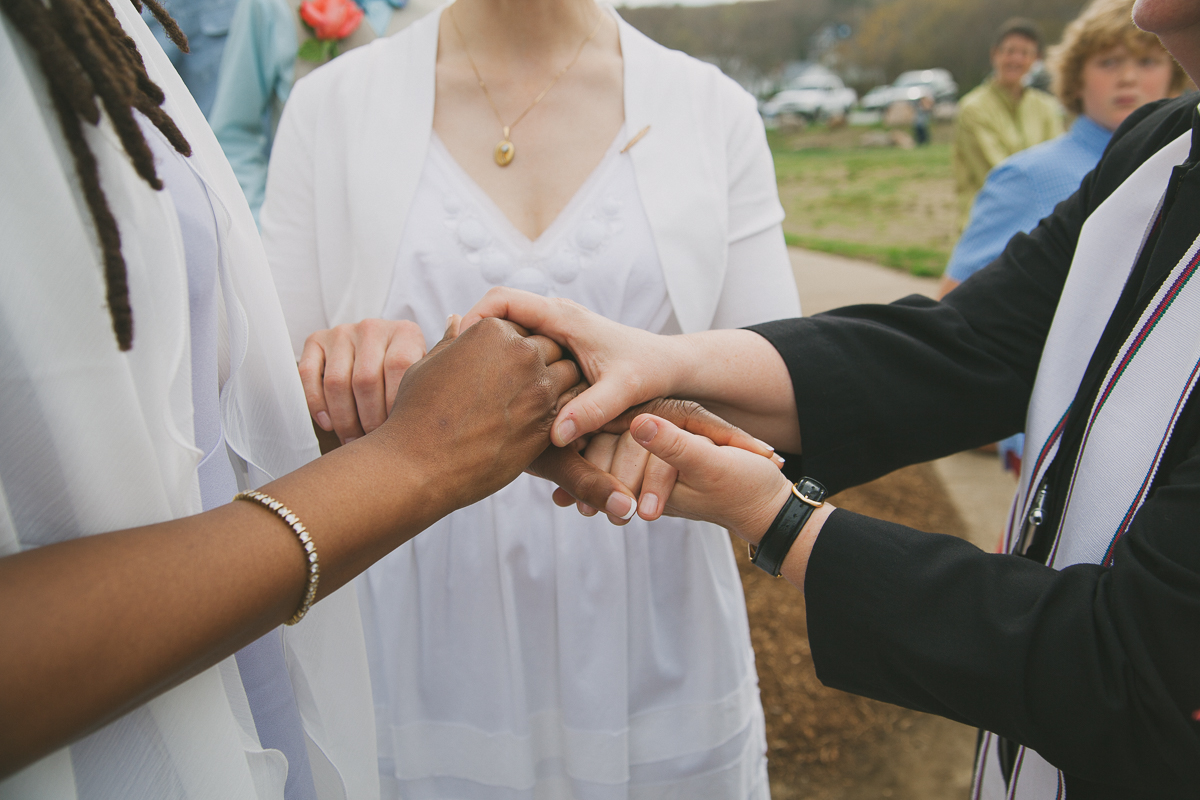 Brides Exchanging Wedding Rings | Stage Fort Park - Gloucester, MA. | Kelly Burgess Photography