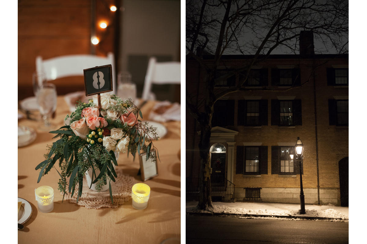 Wedding Centerpieces and Providence Street | Kelly Burgess Photography