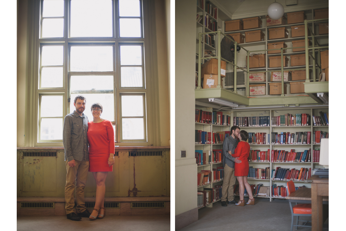 Boston Public Library Engagement Photos | Copley Square - Boston, MA. | Kelly Burgess Photography