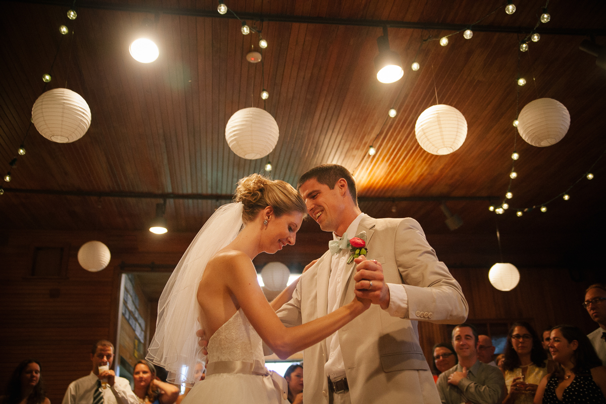 Bride and Groom's First Dance | Codman Estate - Lincoln, MA. | Kelly Burgess Photography