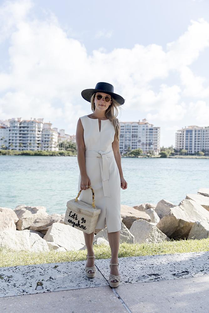 karen millen off-white dress