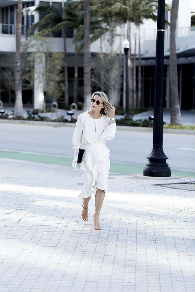 karen millen blouse and skirt