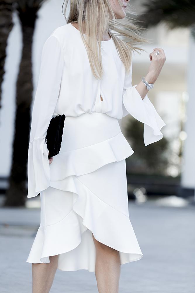 karen millen skirt and blosue combo