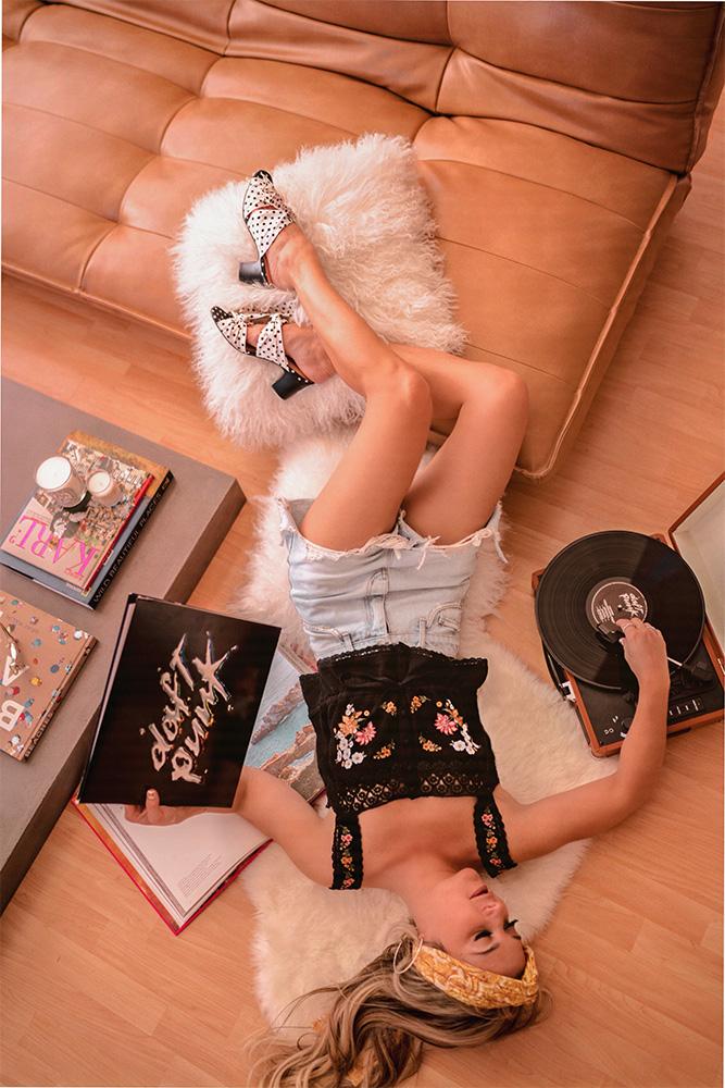 Christie wears who what wear's poppy polka dot heeled pumps