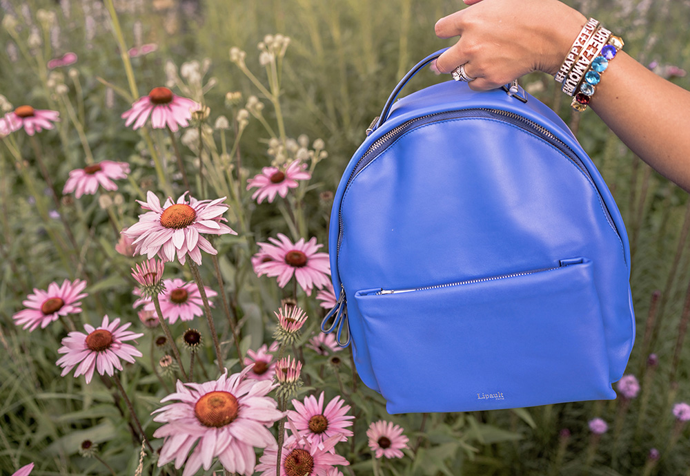 Christie Ferrari reviews the Lipault Nano Backpack in cobalt blue for the handbag review series Hot Bag Alert.