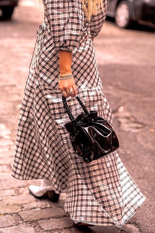 Christie Ferrari reviews Staud Grace Bag in black patent leather for hot bag alert.