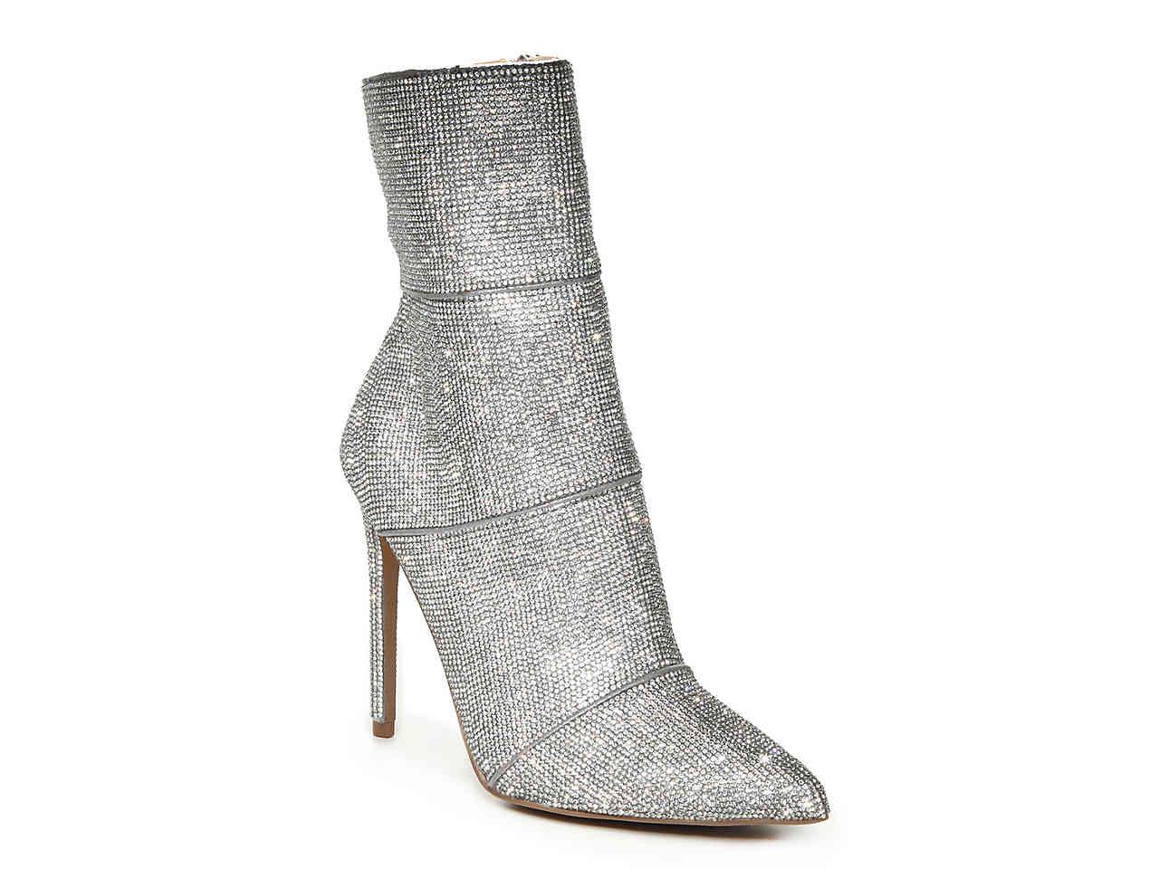 glitter shiny NYE heeled booties
