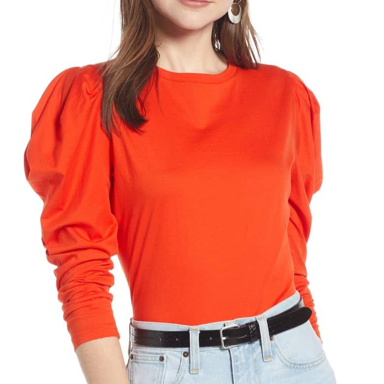 something-navy-orange-top-christie-ferrari