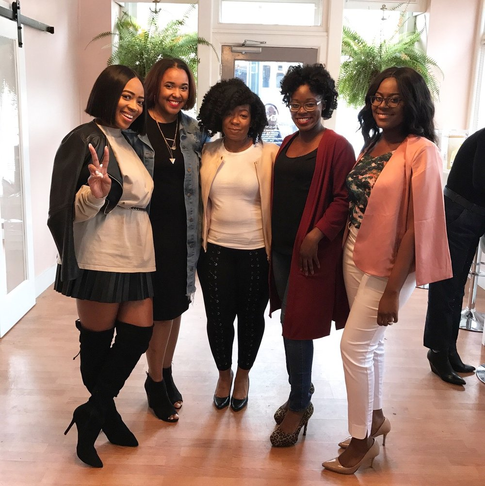 (L-R) MEGS, YOURS TRULY, NADJA, COURTNEY (BBU CO-REGIONAL DIRECTOR) & MICHELLE