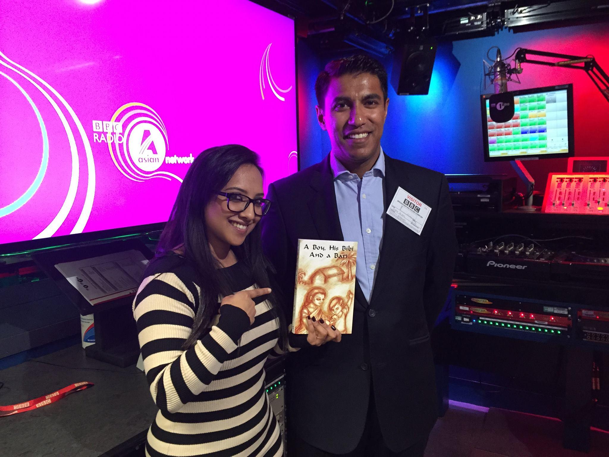 With host Nadia Ali at the BBC Studios.