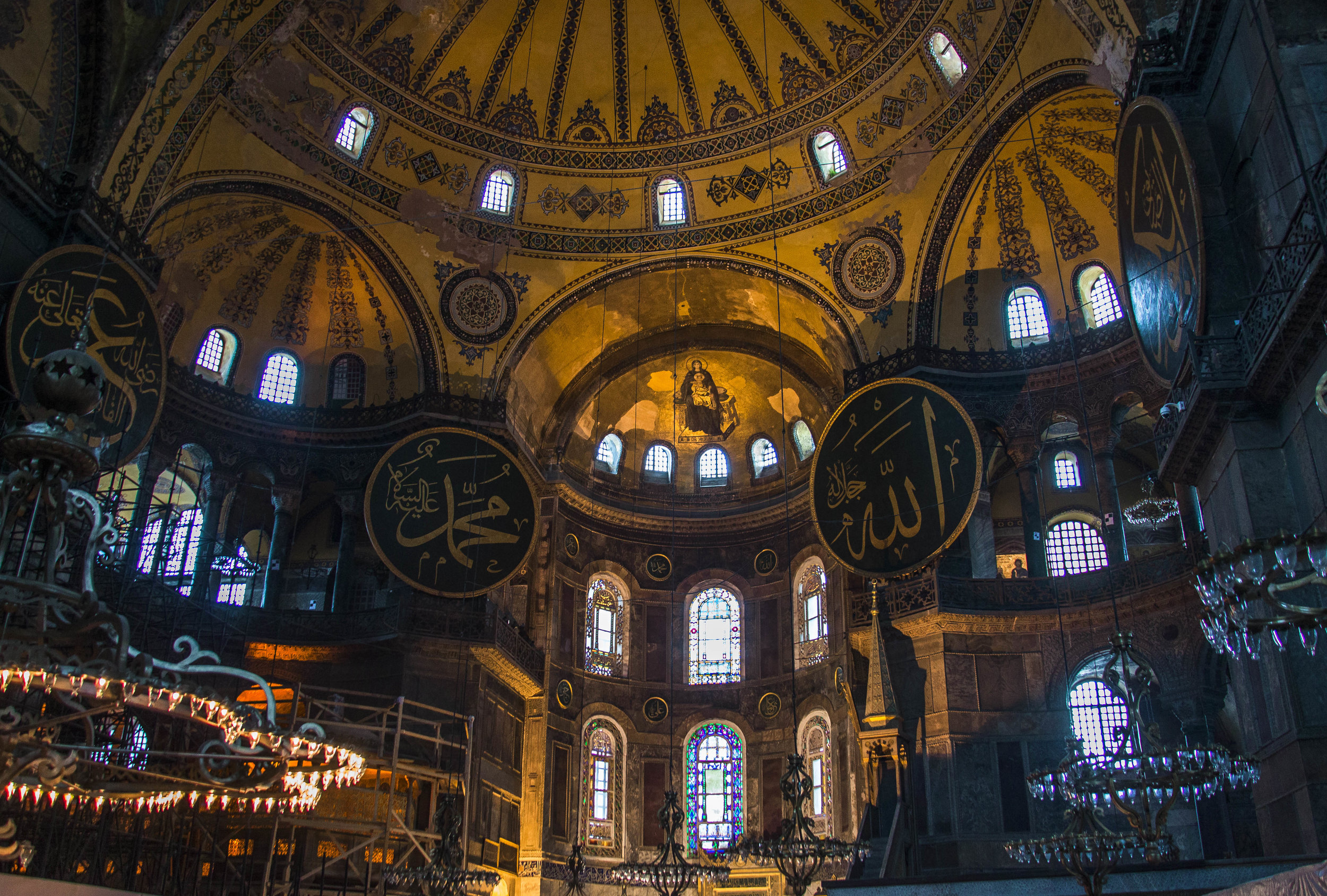 Hagia Sophia built in 537AD is a testament to the ever evolving history of Turkey first built by the Romans as a Christian cathedral before being converted into a mosque after the Ottoman's conquered the city.