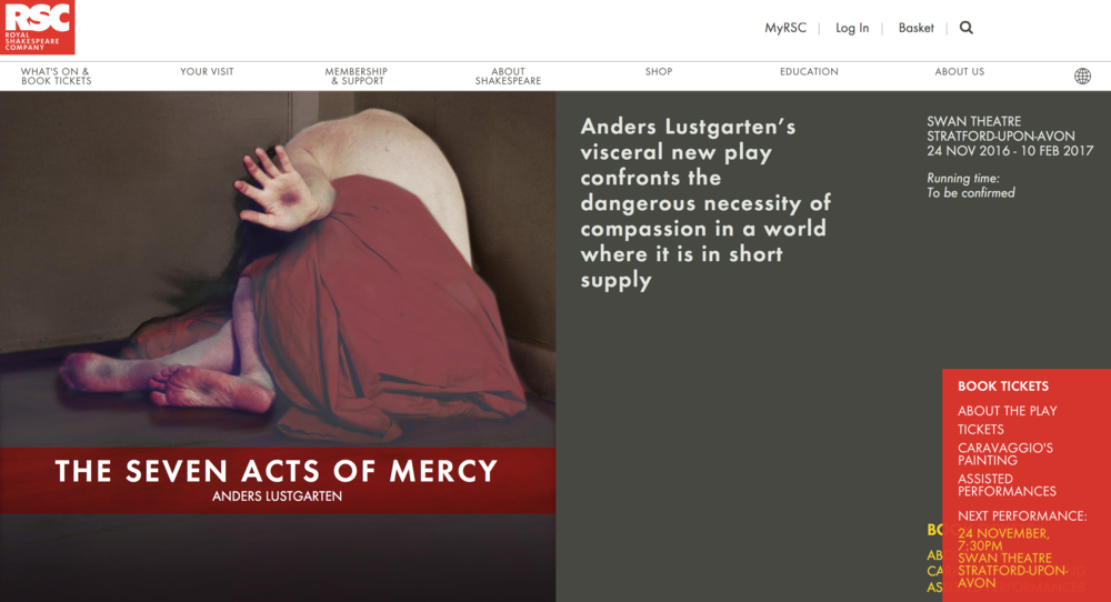 The Seven Acts of Mercy performed by Royal Shakespeare Company
