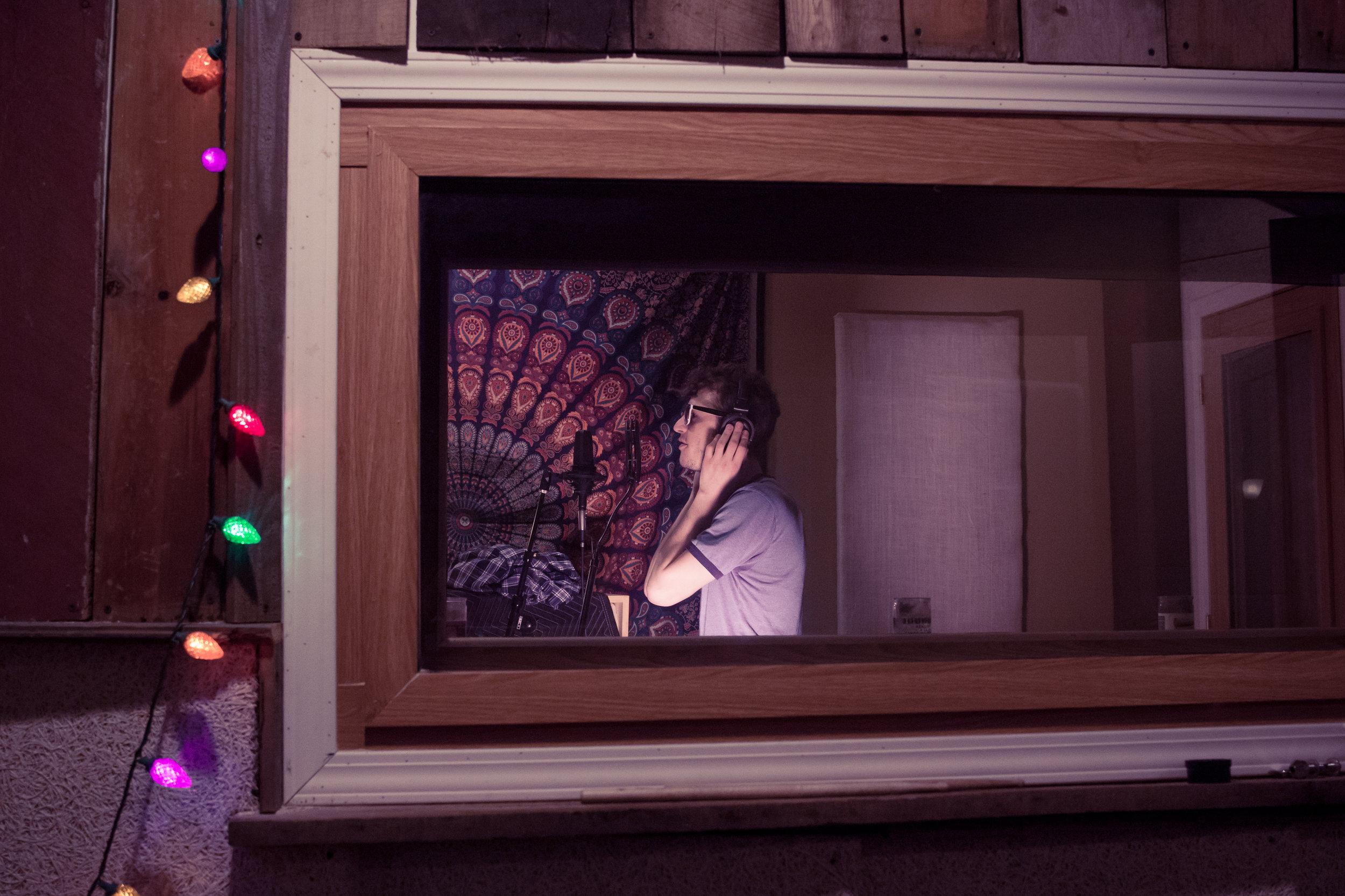 Tony tracking Vocals at Oranjudio