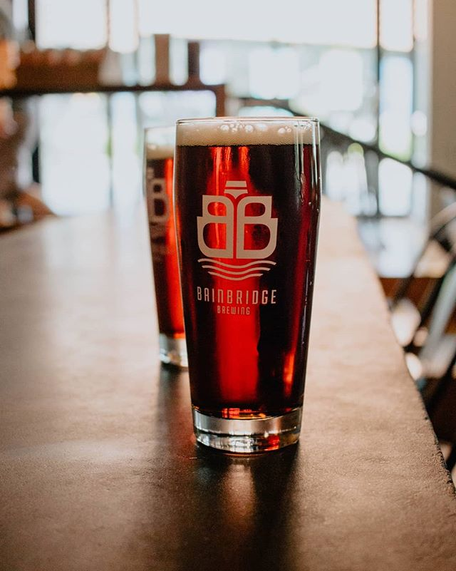 When it's a super Mondayish Monday, go get a drink from Bainbridge Brewing... Logo by @malolodesign
