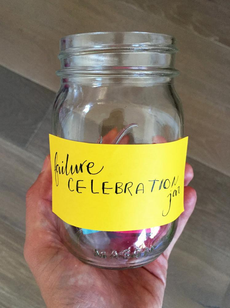 My former teammate Cait Gordon made this failure celebration jar to help us remember the value of risk-taking. I still have it in my living room today!
