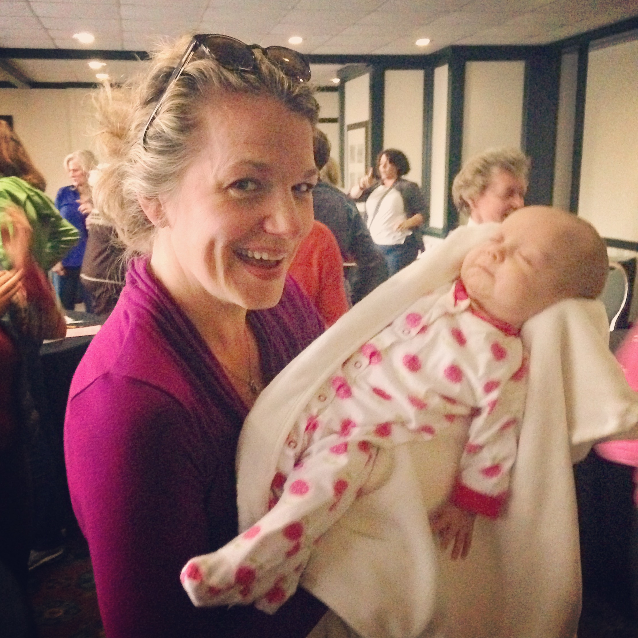 Cynthia Shepherd and newborn daughter, Bess.