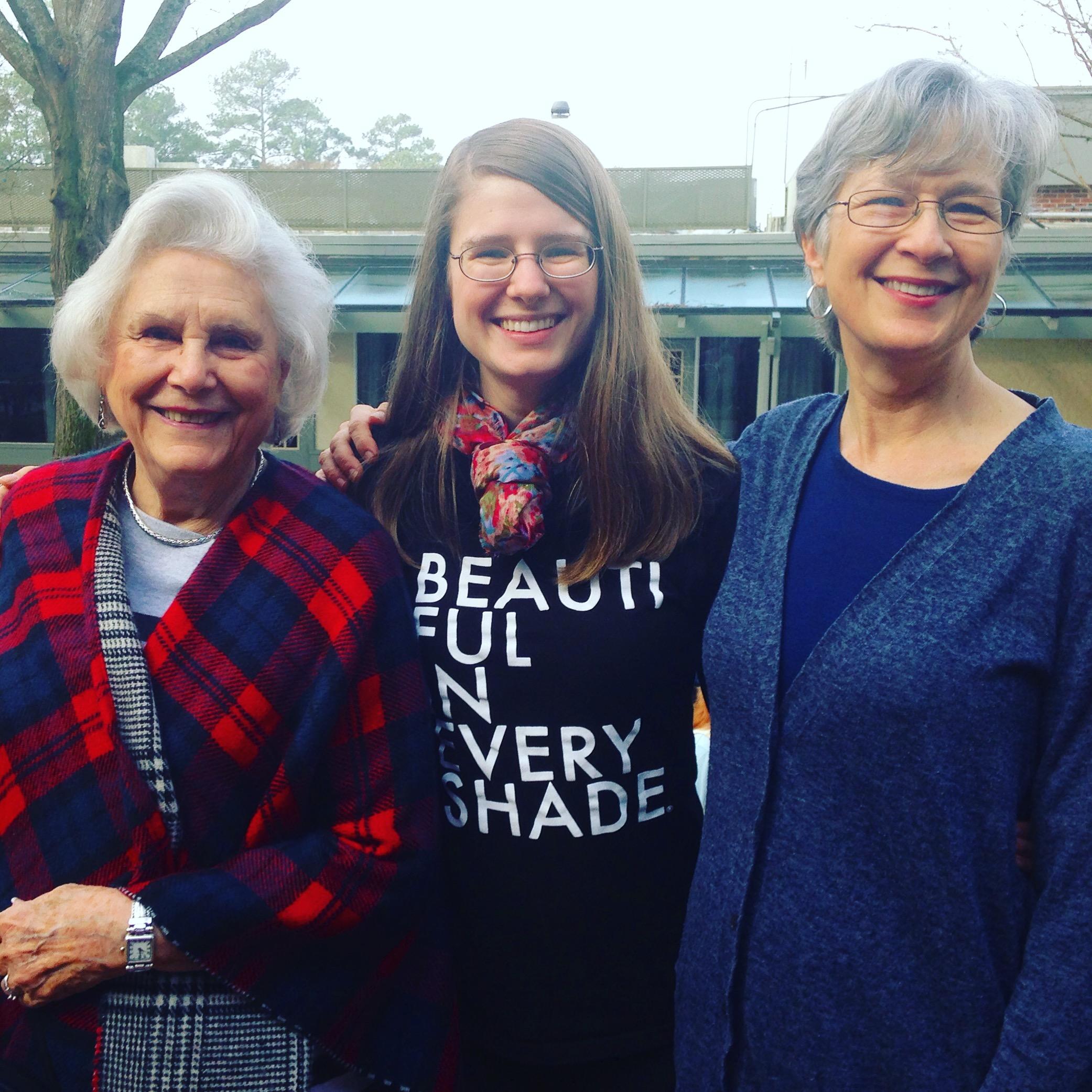 Left to right: Betty Asbury, Claire Asbury Lennox, Nancy Asbury