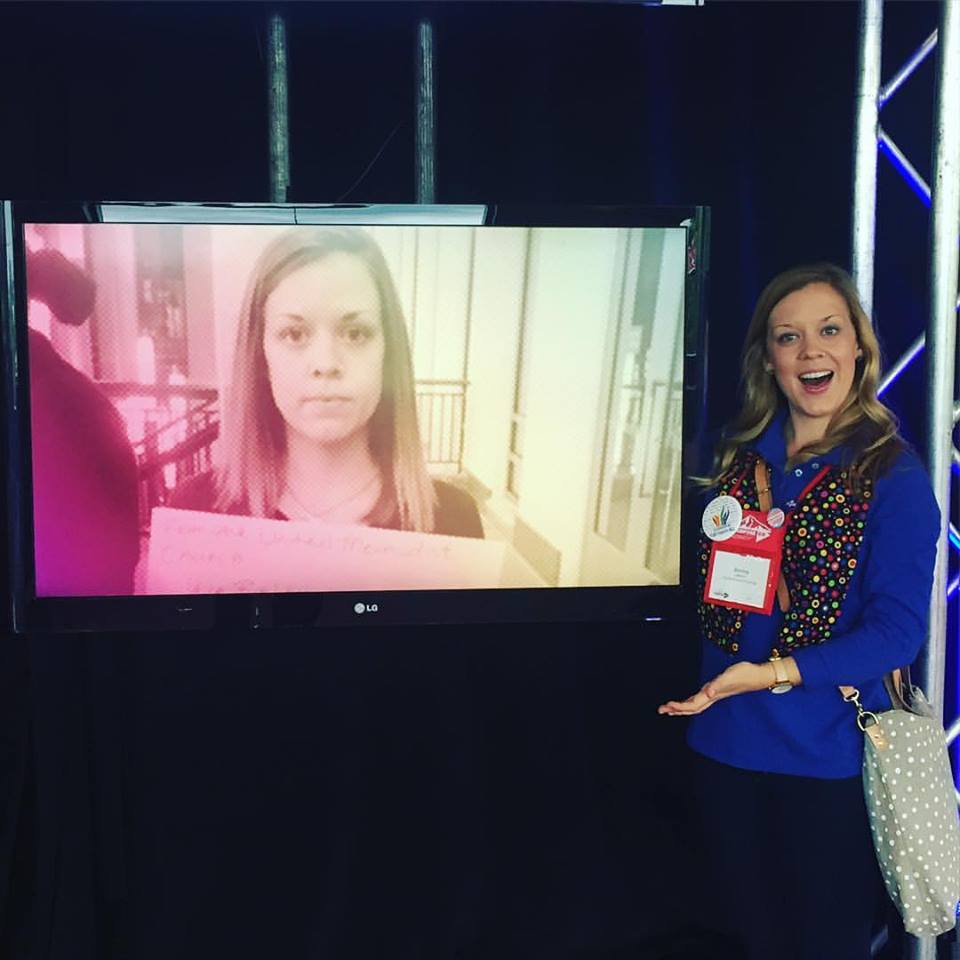 Glenn intern and now Candler School of Theology graduate, Brenna Lakeson, found herself on display at General Conference for her work to help end the death penalty and advocacy work for the life of Georgia death row inmate Kelly Gissendaner.  Photo credit: Brenna Lakeson.