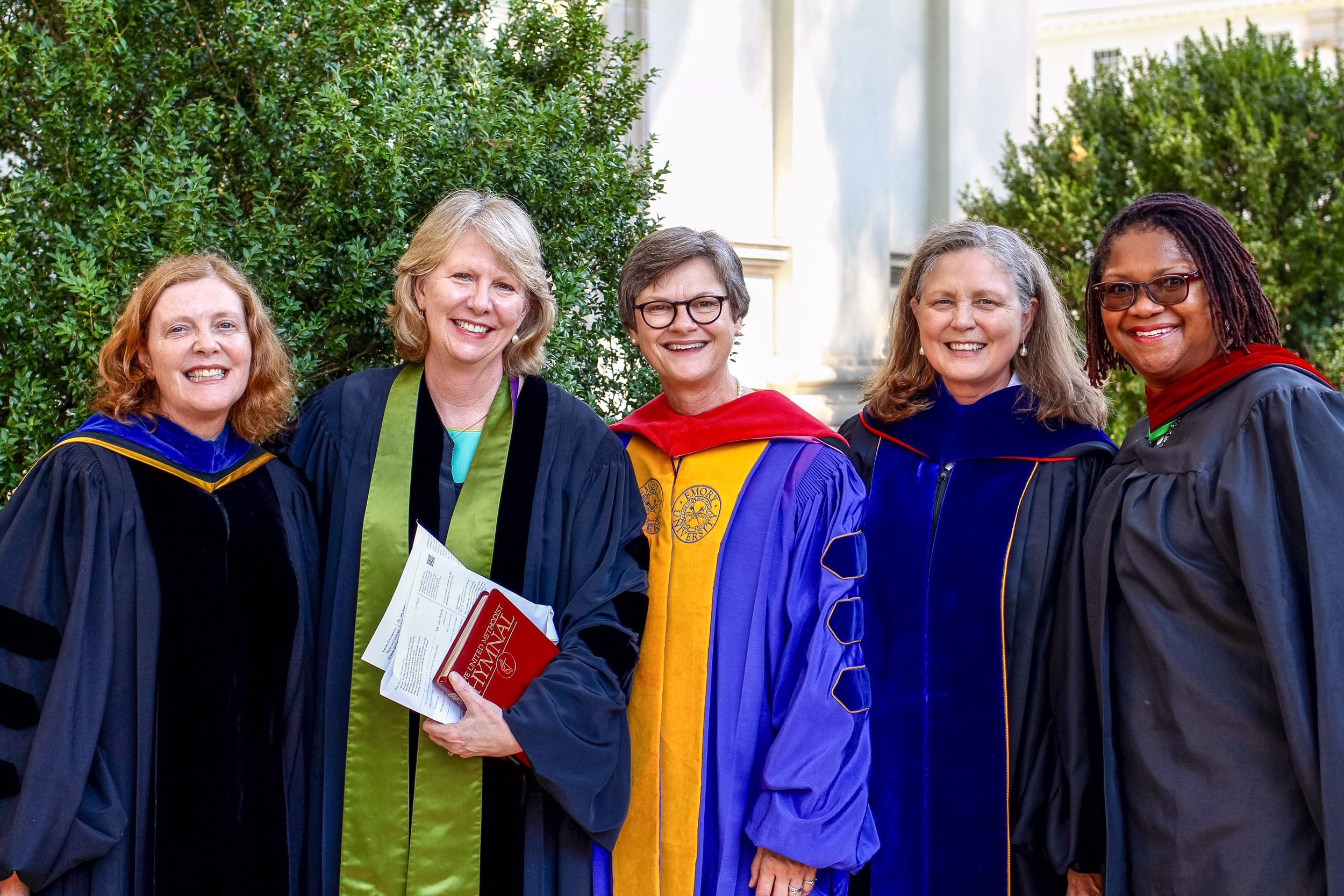 We once again celebrated our connections with Emory, and were honored to be led in worship by these strong leaders in the church and the academy: Dr. Claire Sterk, Rev. Sue Haupert-Johnson, Rev. Dr. Alice Rogers, Dr. Jan Love, and Rev. Bridgette Young Ross.