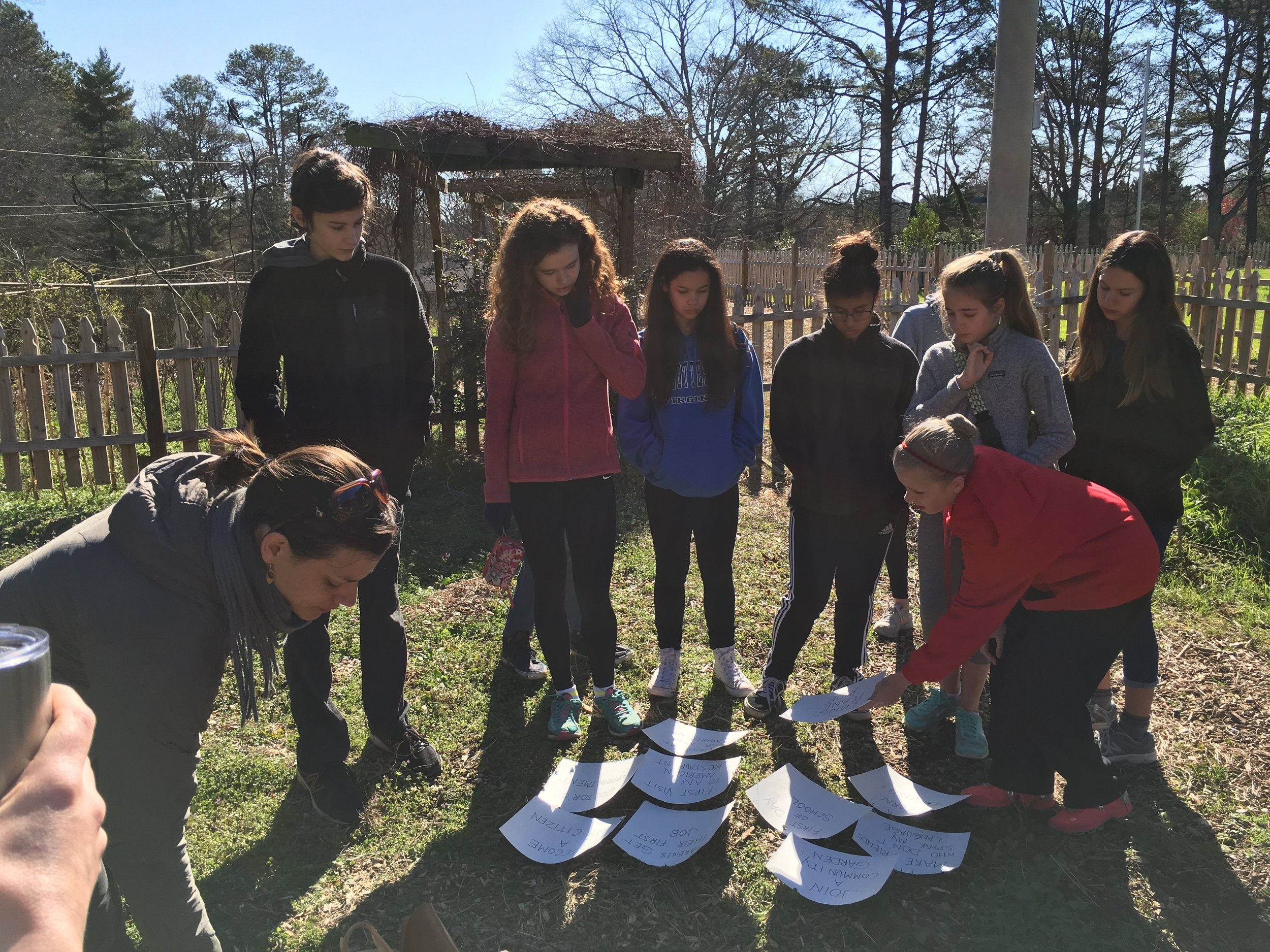 This past Saturday, the confirmands and their friends-in-faith gathered for a community garden workday.