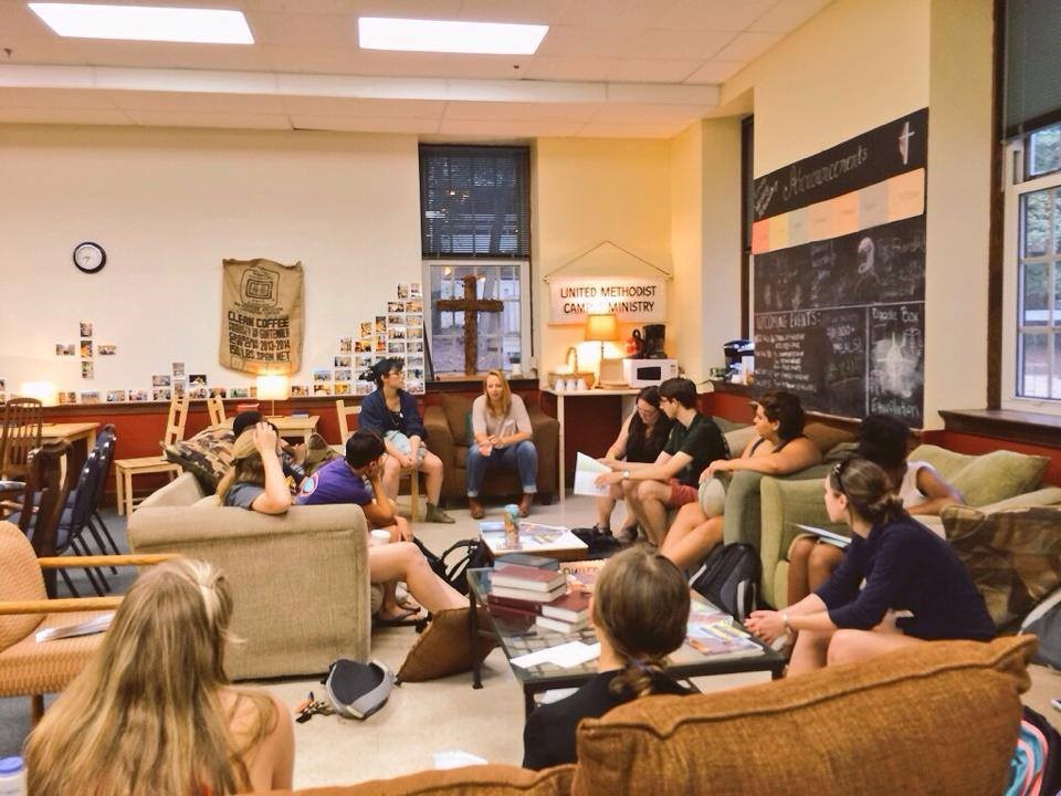 Emory Wesley students gathering for fellowship.