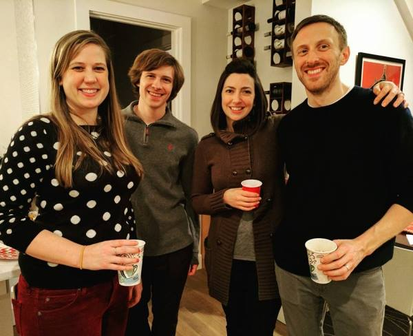 Anne Michael and Edward (right) with Charla and Joel Howard at this year's Post Jingle Mingle