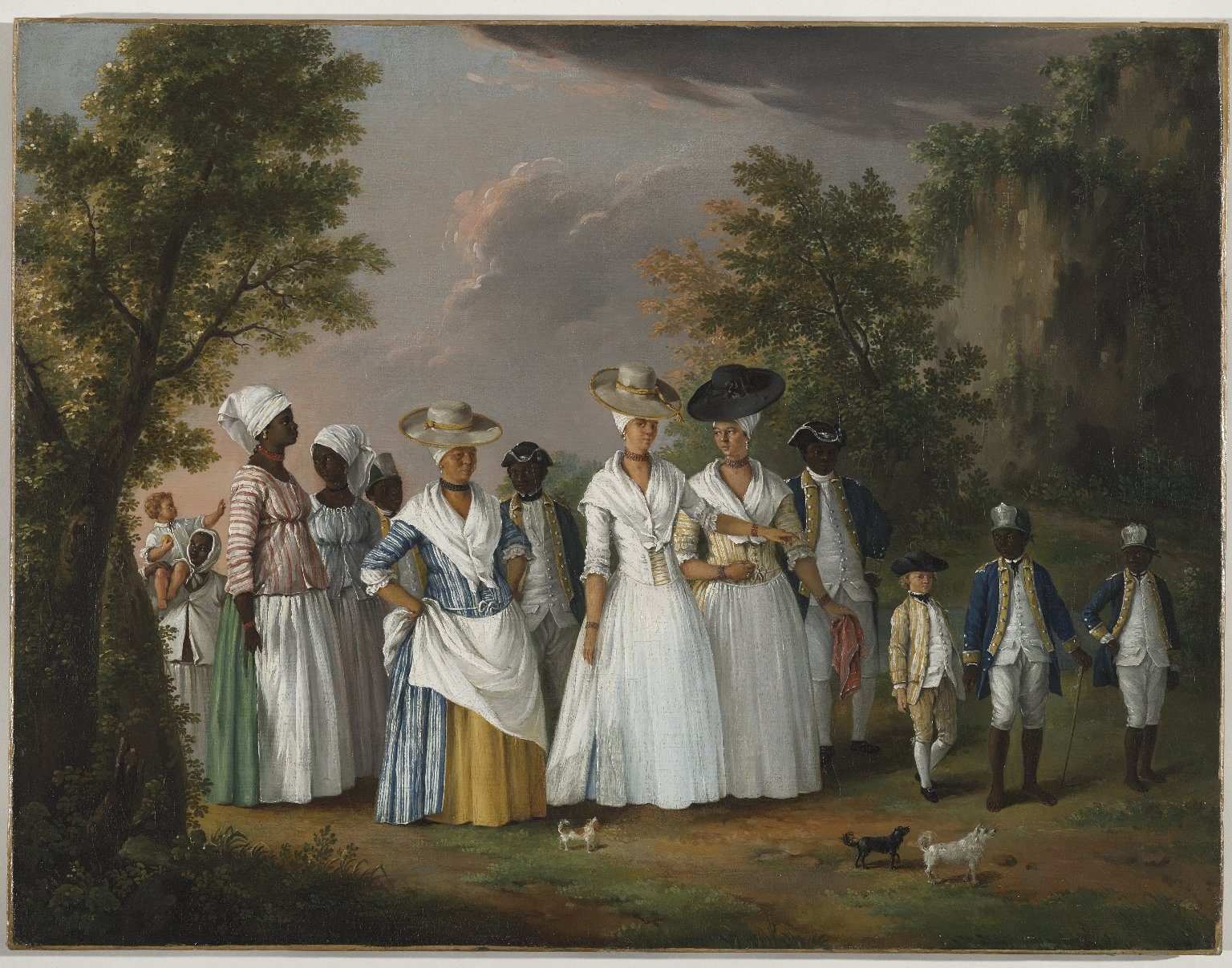 """Agostino Brunias, """"Free Women of Color with Their Children and Servants in a Landscape"""", ca. 1770-1794, Brooklyn Museum of Art, Gift of Mrs. Carll H. de Silver, in memory of her husband, by exchange gift of George S. Hellman, by exchange. Digital photo courtesy of Brooklyn Museum.         Normal   0             false   false   false     EN-US   X-NONE   X-NONE                                                                                                                                                                                                                                                                                                                                                                                                                                                                                                                                                                                                                                                                                                                                                                                                                                                               /* Style Definitions */  table.MsoNormalTable {mso-style-name:""""Table Normal""""; mso-tstyle-rowband-size:0; mso-tstyle-colband-size:0; mso-style-noshow:yes; mso-style-priority:99; mso-style-parent:""""""""; mso-padding-alt:0in 5.4pt 0in 5.4pt; mso-para-margin-top:0in; mso-para-margin-right:0in; mso-para-margin-bottom:8.0pt; mso-para-margin-left:0in; line-height:107%; mso-pagination:widow-orphan; font-size:11.0pt; font-family:""""Calibri"""",sans-serif; mso-ascii-font-family:Calibri; mso-ascii-theme-font:minor-latin; mso-hansi-font-family:Calibri; mso-hansi-theme-font:minor-latin;}"""