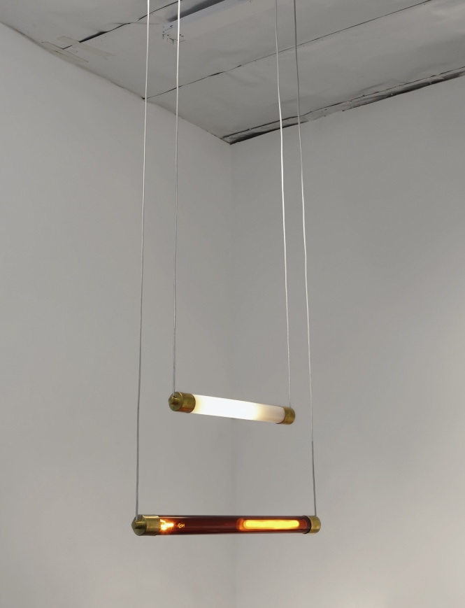Chandeliers installed from lighting track (also available as conventional hanging light).