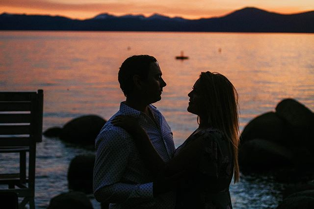 Tahoe Sunsets are the best 🖤 #alwayskissmegoodnight
