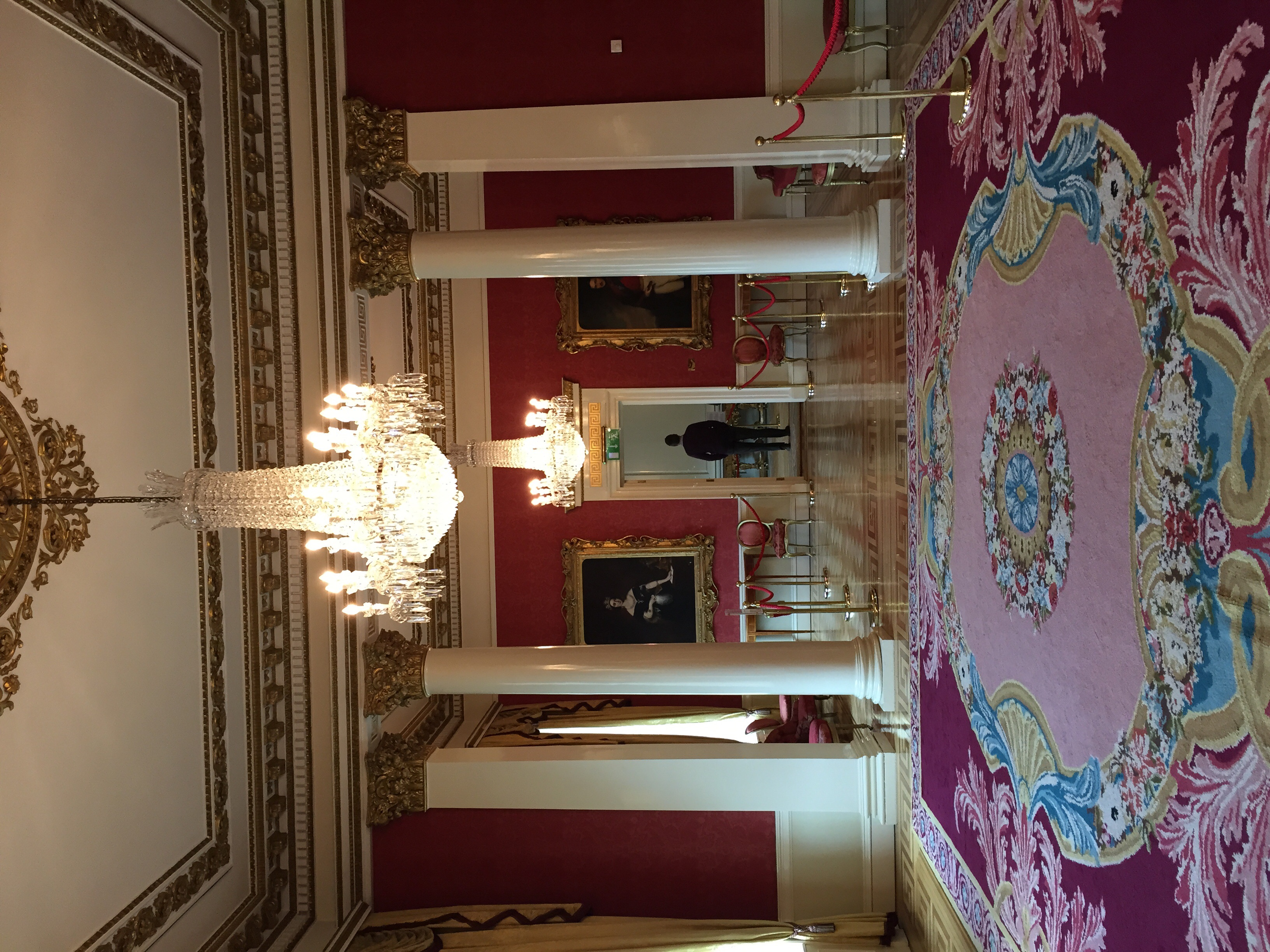 The drawing room of Dublin Castle.