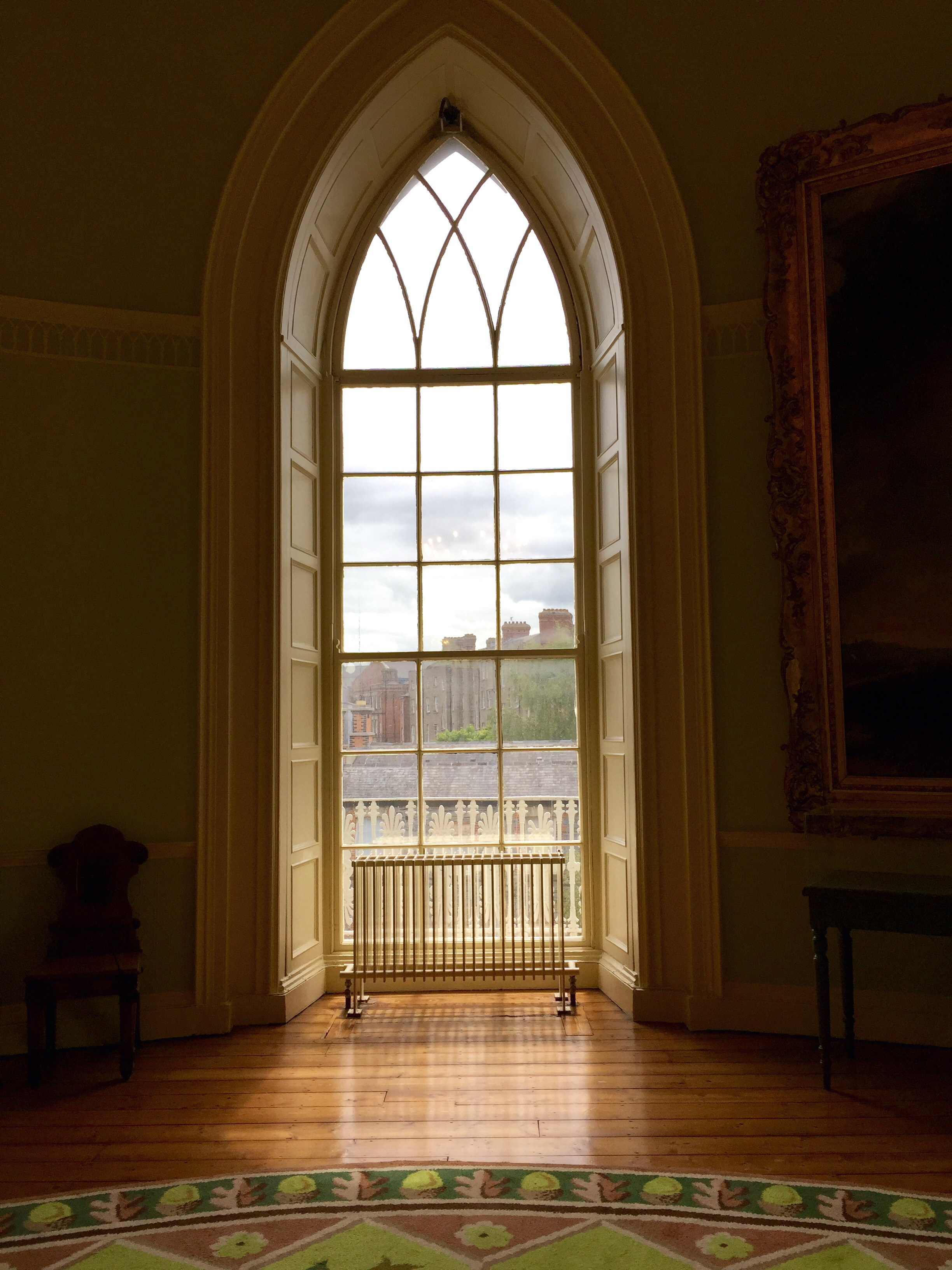 Window in one of the state rooms that looked out onto the garden.