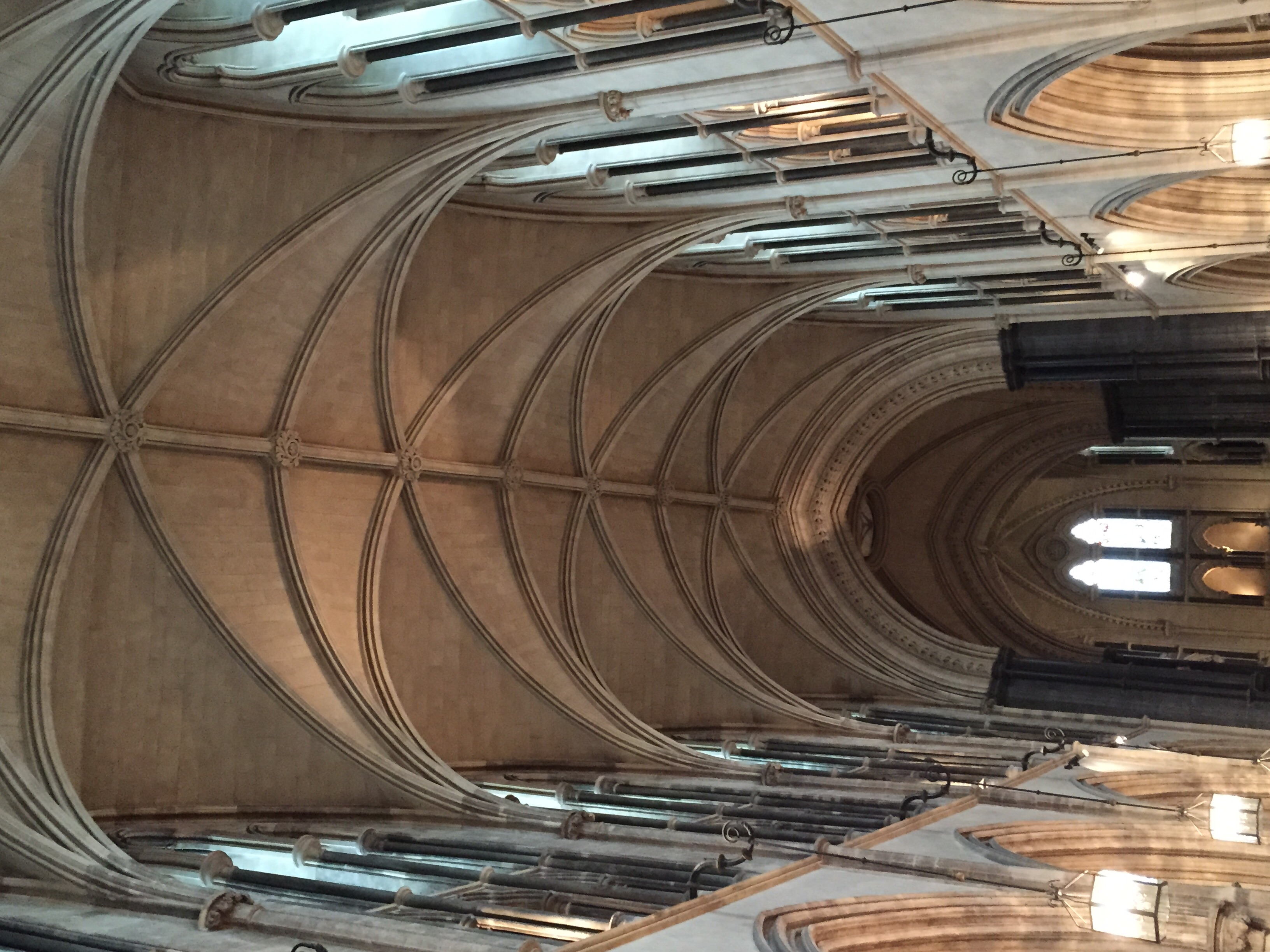 Vaulted ceilings inside Christ Church.