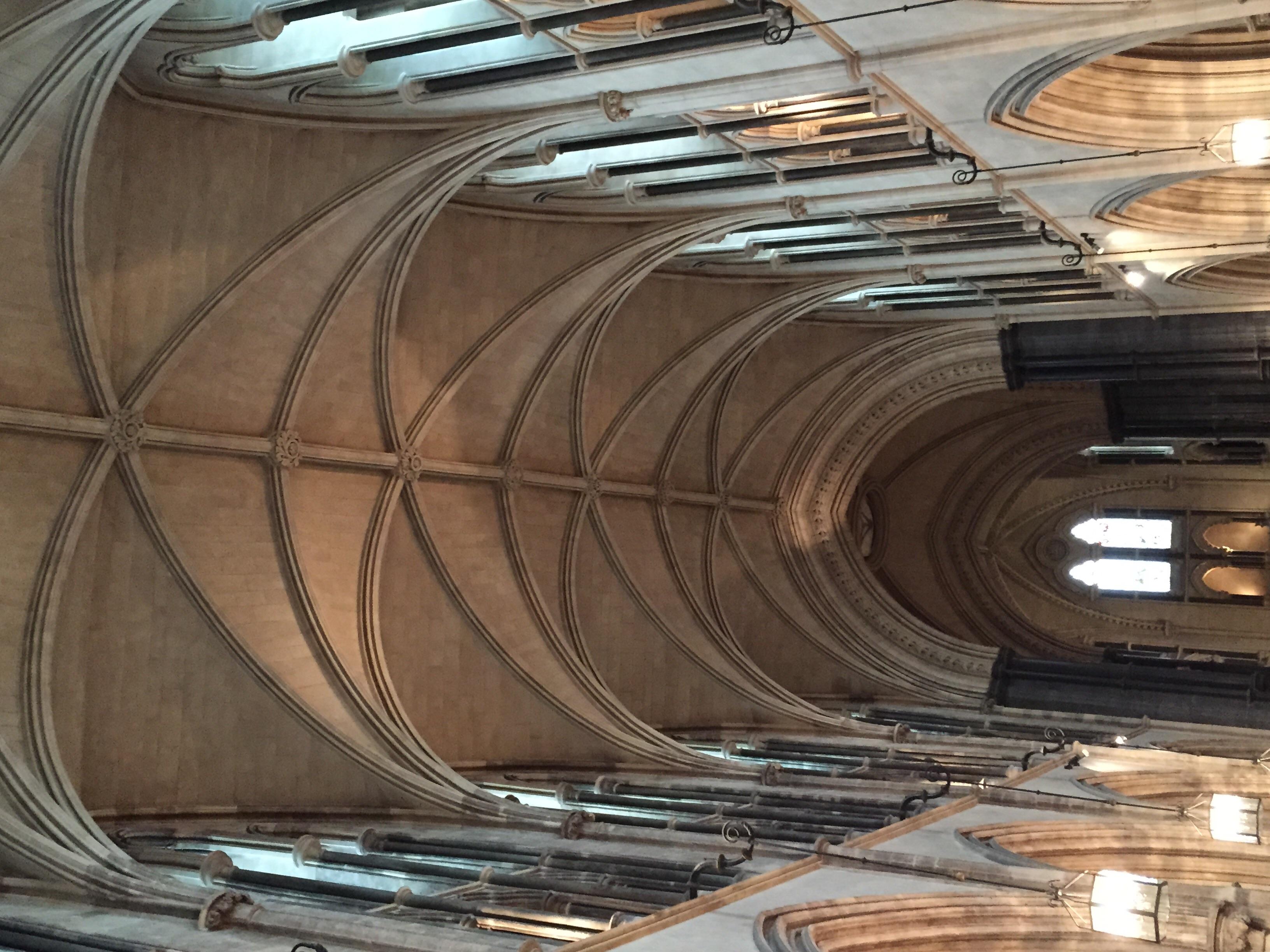 Vaulted ceilings inside Christ Church.