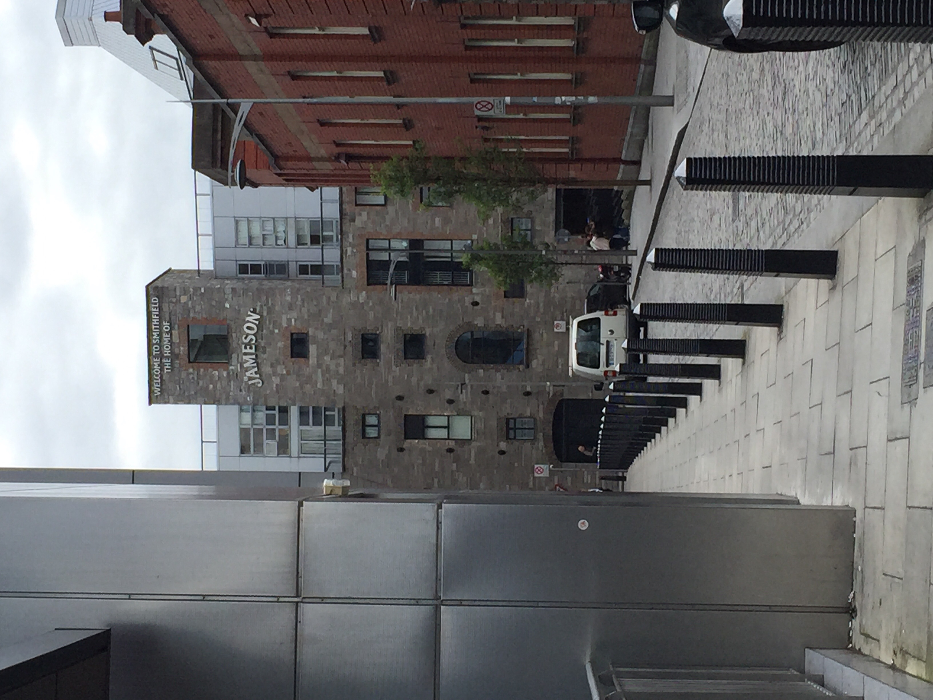Jameson Distillery from the side street.