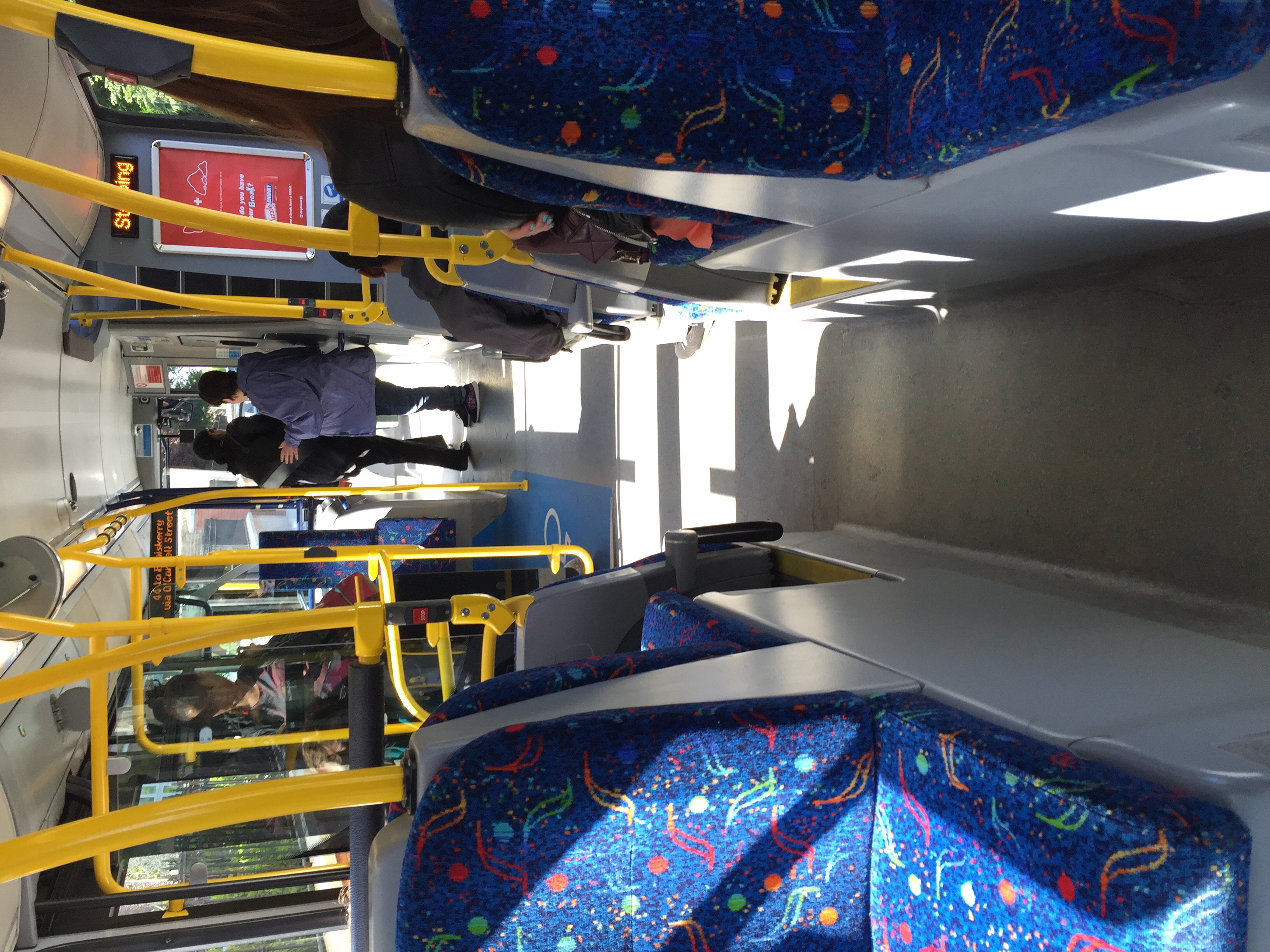 Dublin's Dart Bus, very easy to take to Enniskerry and loved the convenience of the Leap Card!