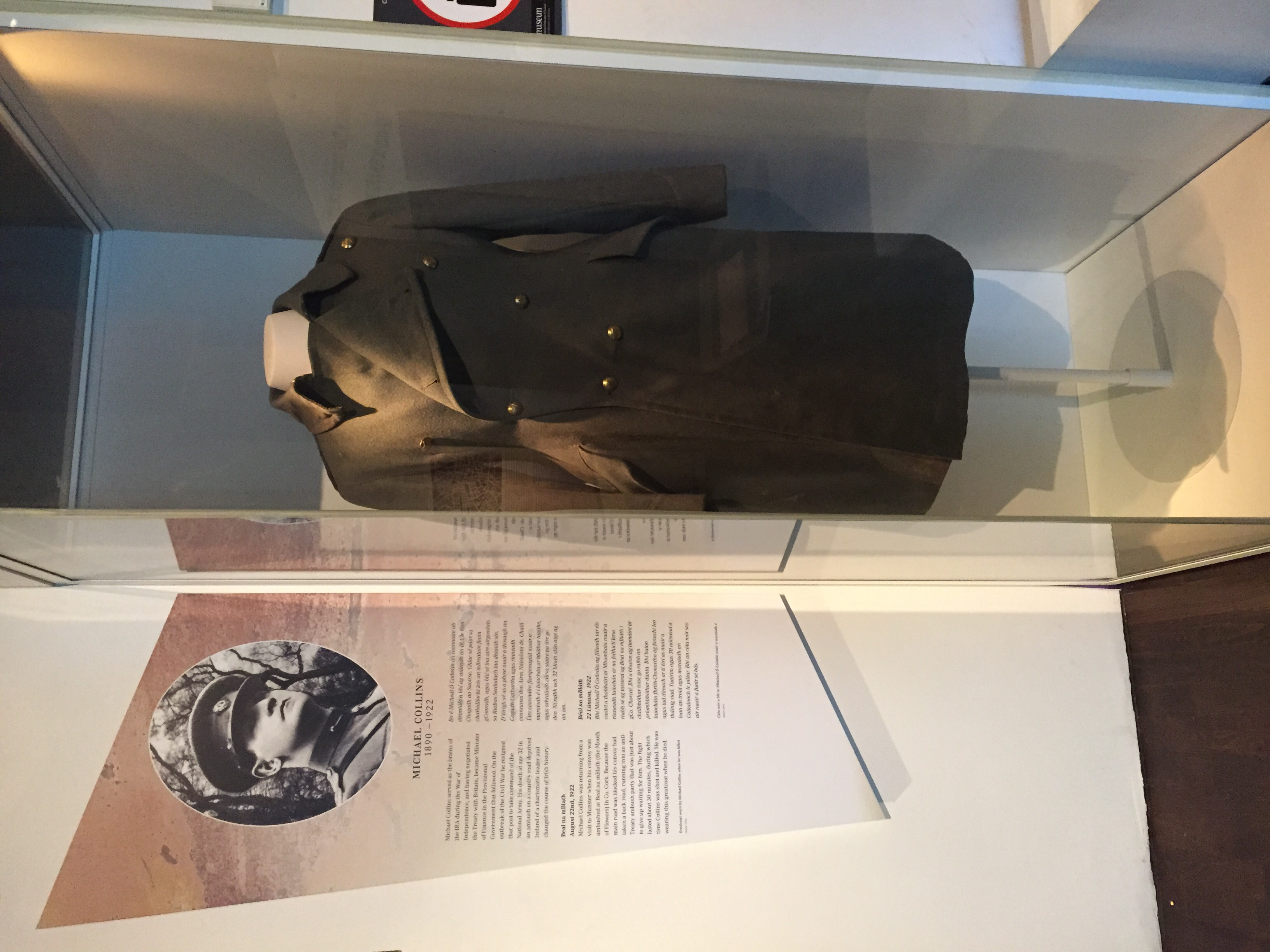 Michael Collins' coat...