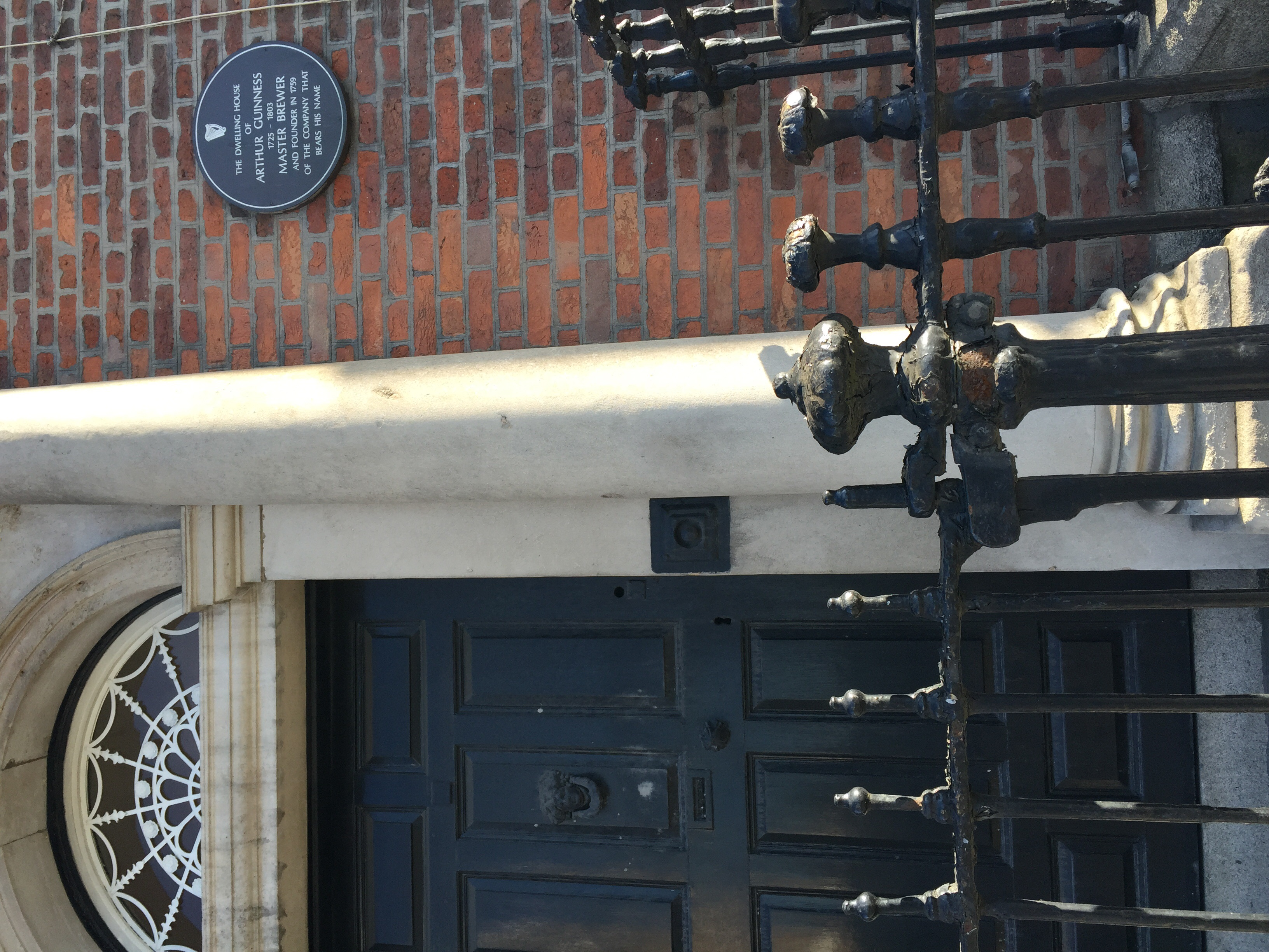 Arthur Guinness's house, right behind the brewery!