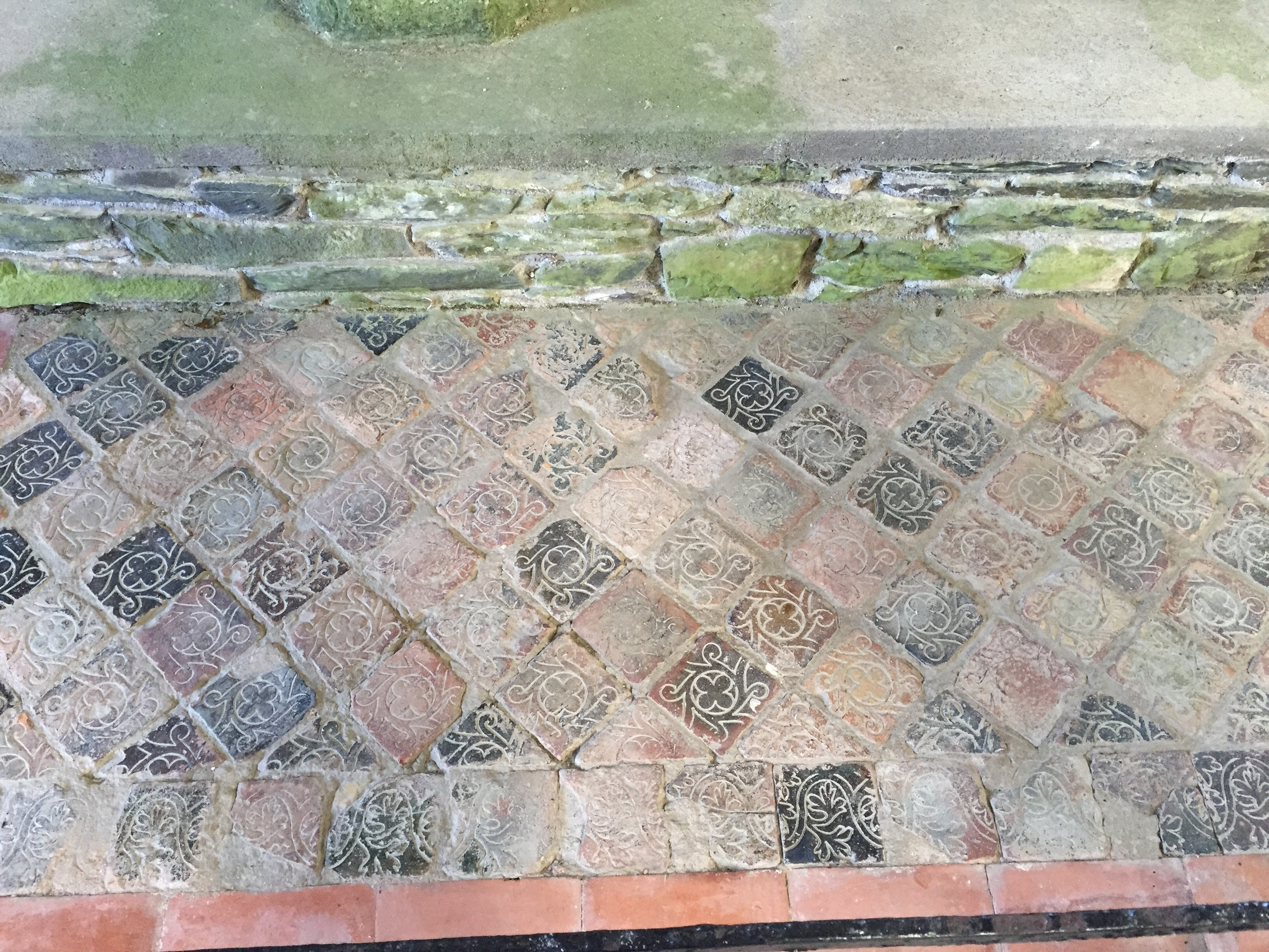 Tiled floors...beautiful!