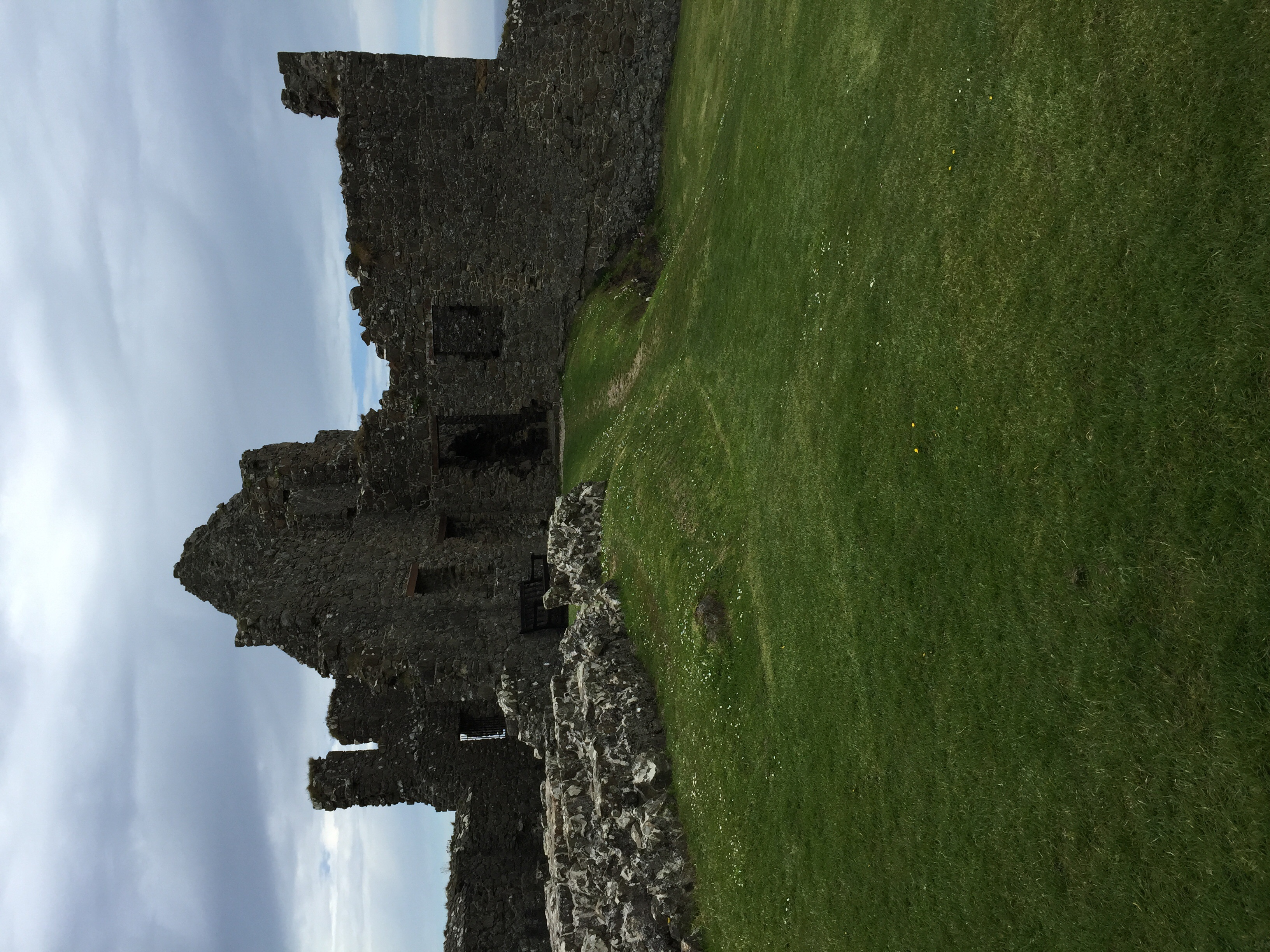 The ruins of the keep.