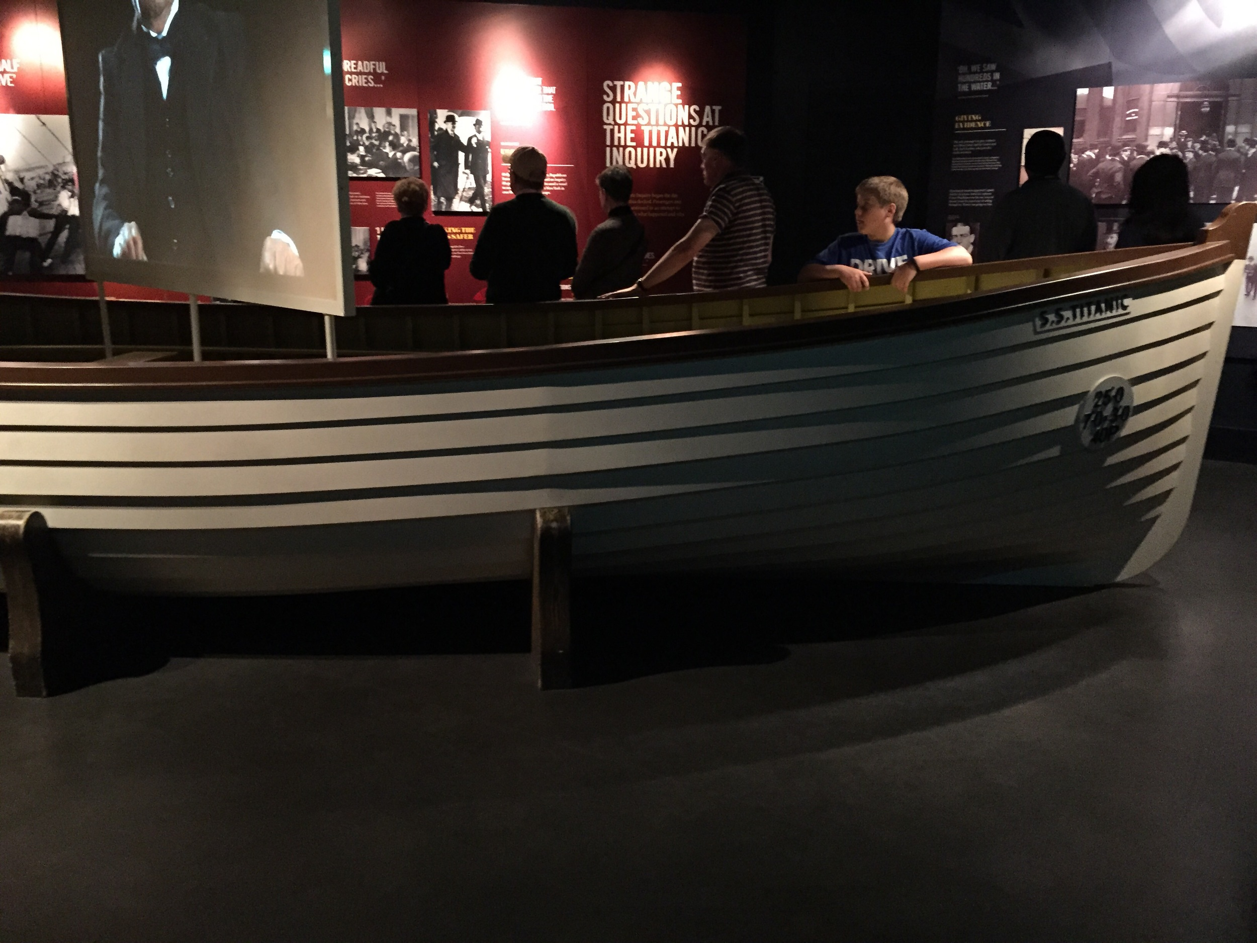 Titanic's life boats.