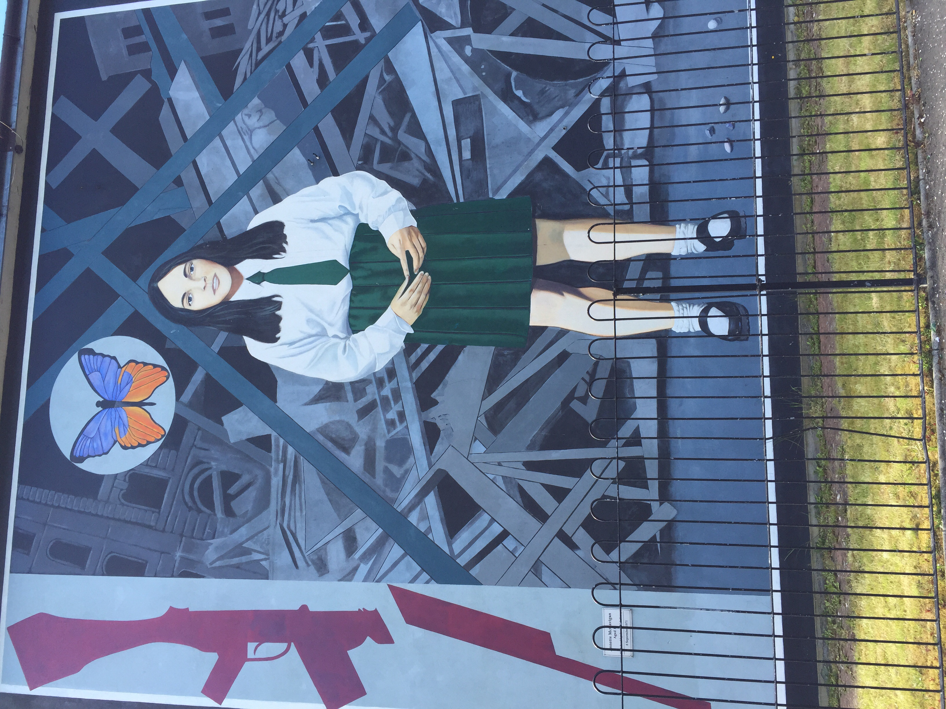 Murals like in Belfast depicting the Bogsides and the Troubles.