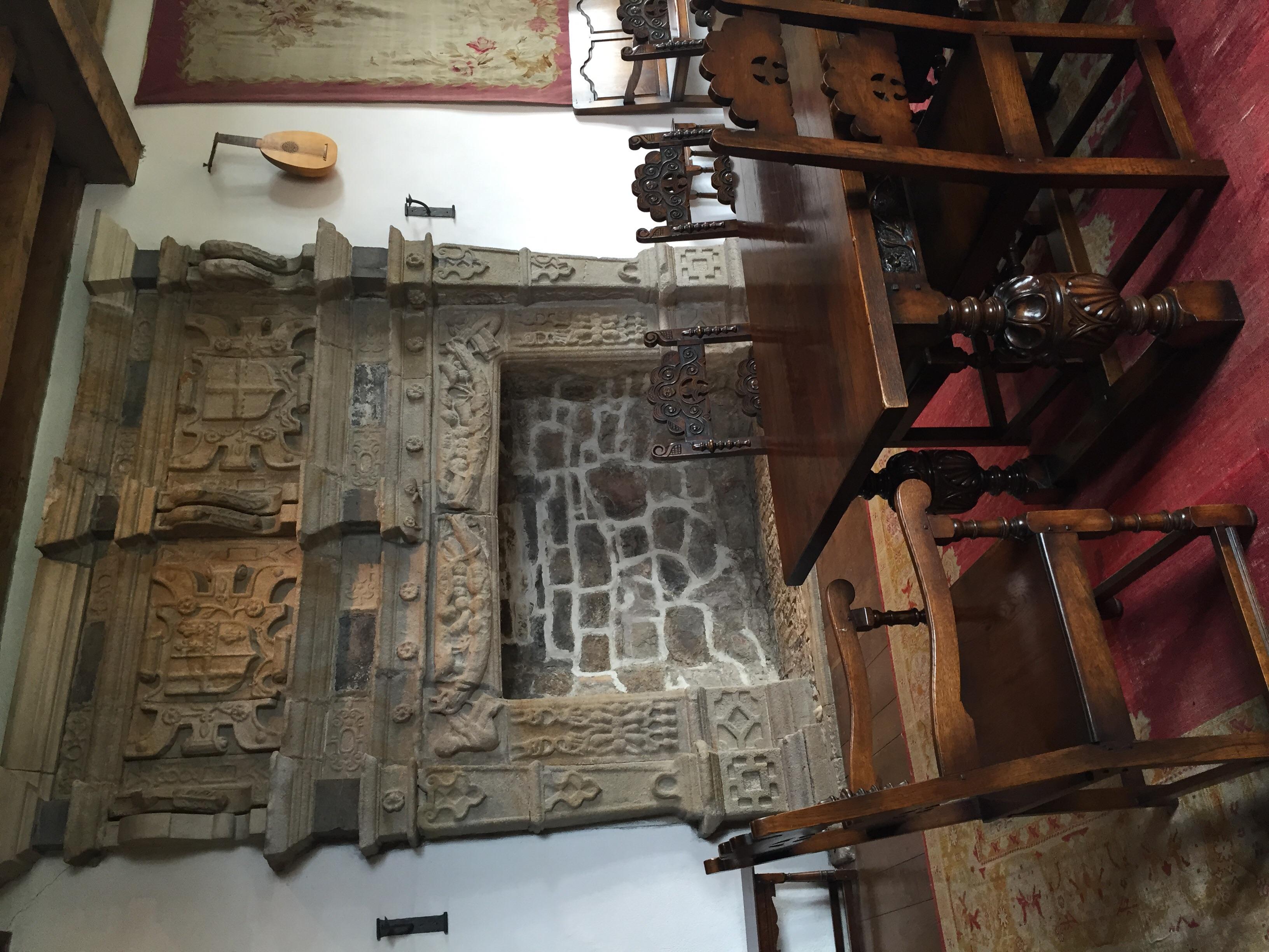 Original Jacobean fireplace...