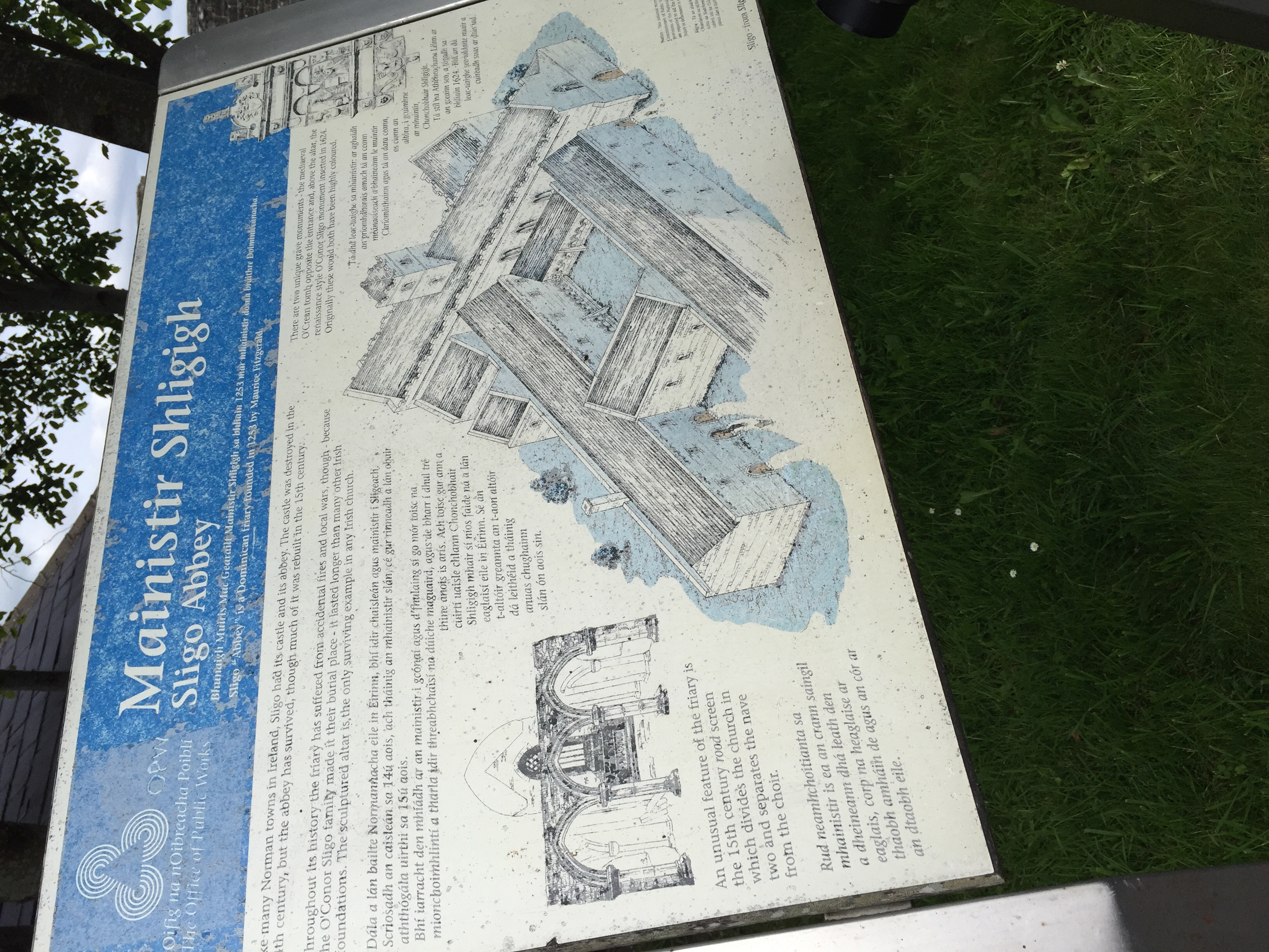 Plans of what the abbey once looked like.