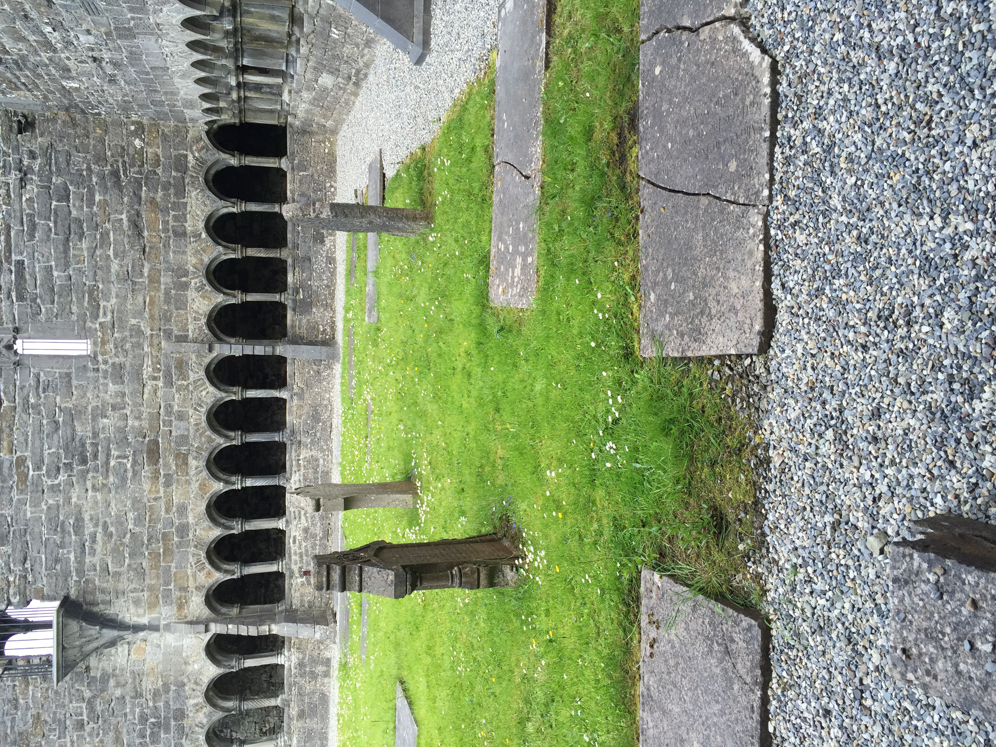 Graves in the cloister.