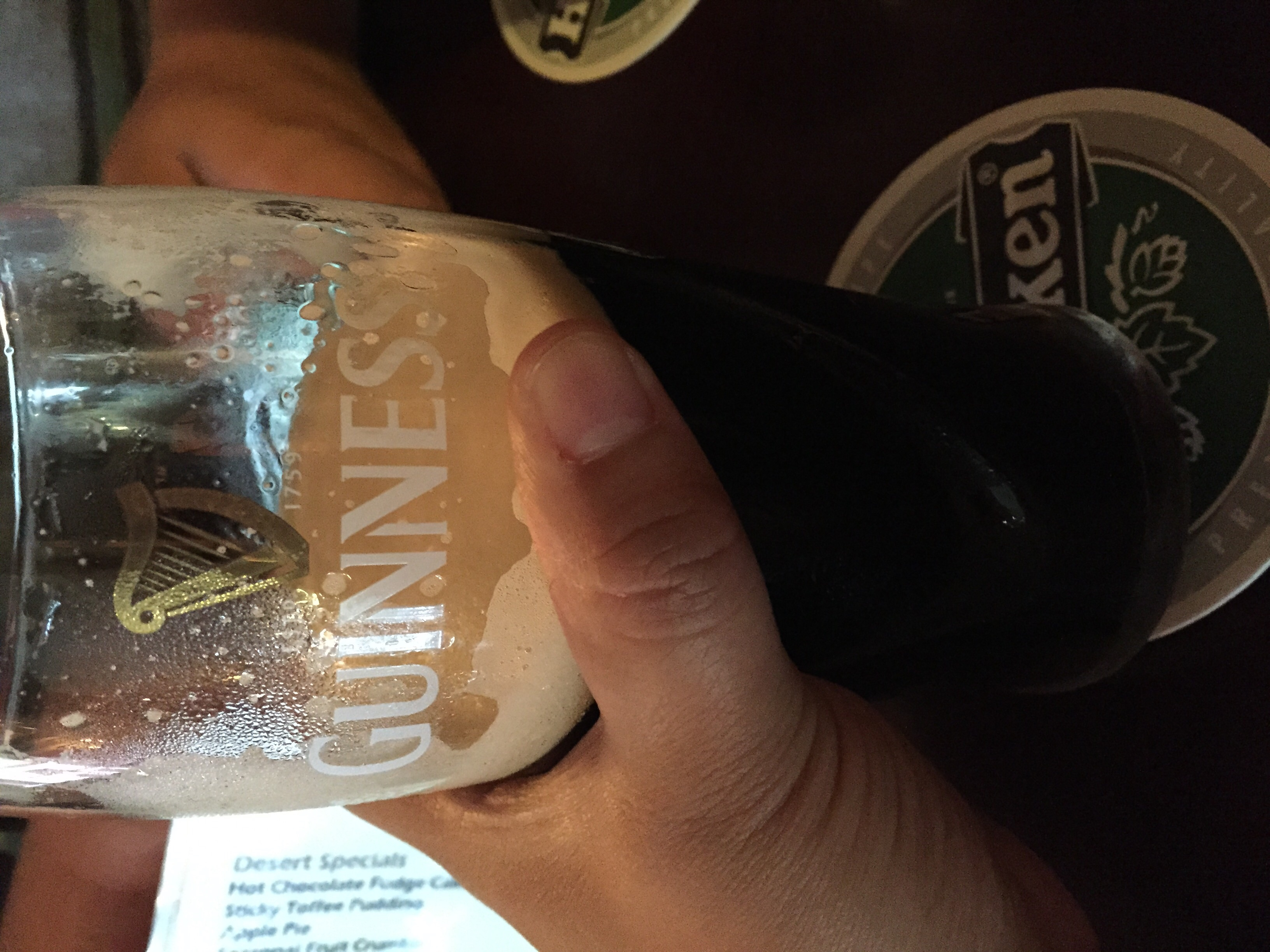 Our last Guinness in Ireland...SAD.